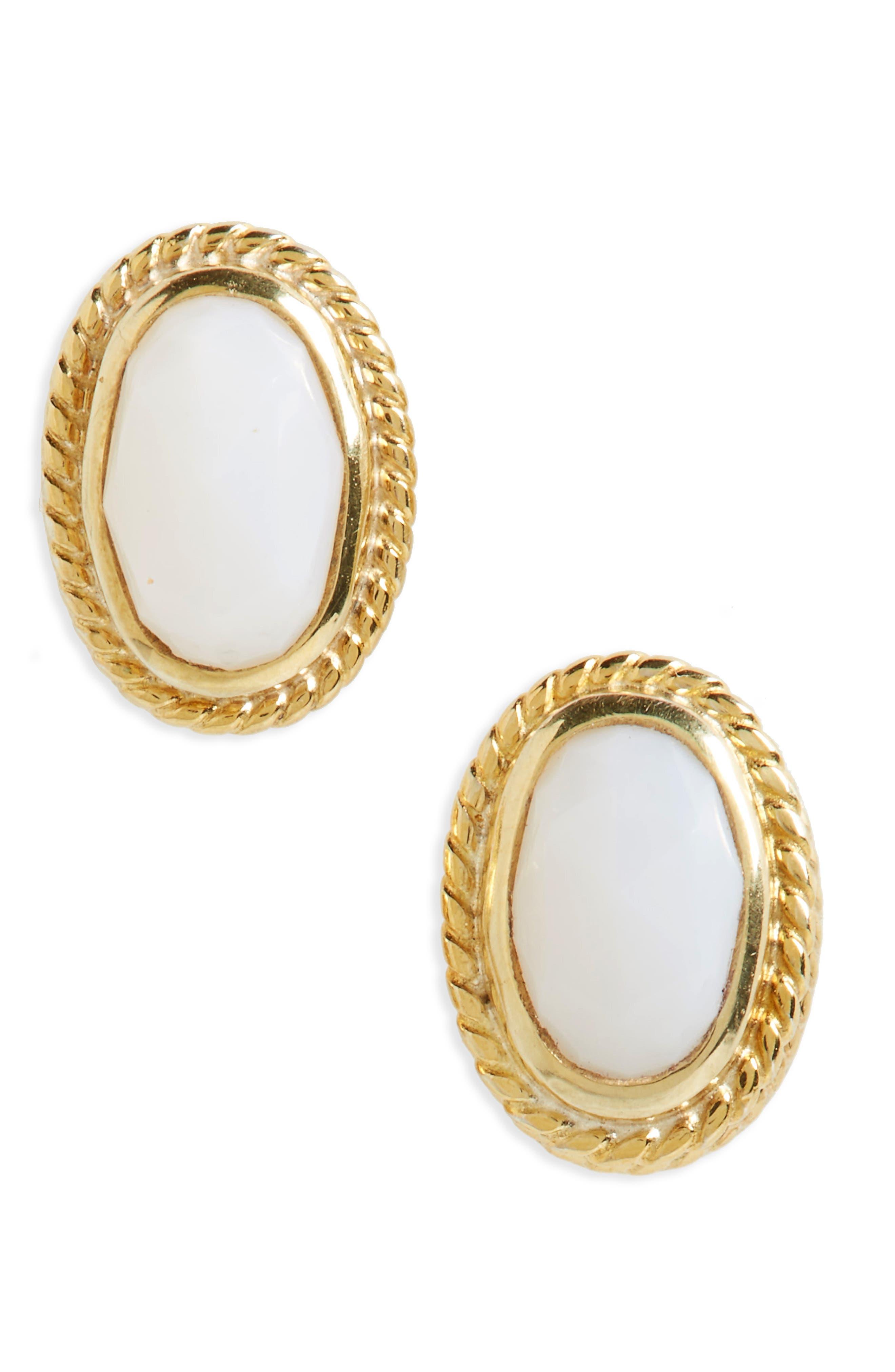 Anna Beck White Opal Stud Earrings
