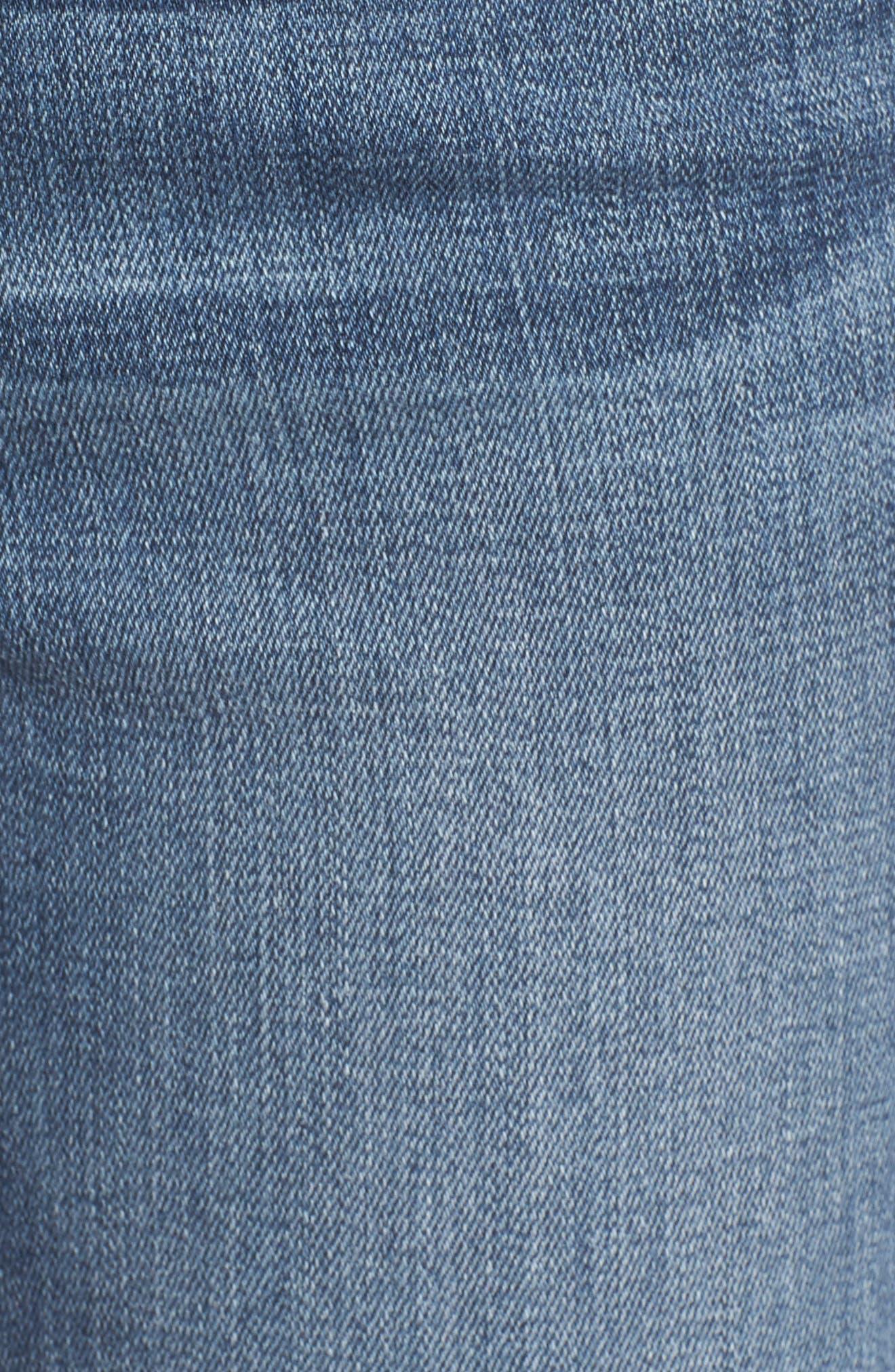 Alternate Image 5  - Good American Good Legs High Waist Ankle Skinny Jeans (Blue 084) (Regular & Plus Size)