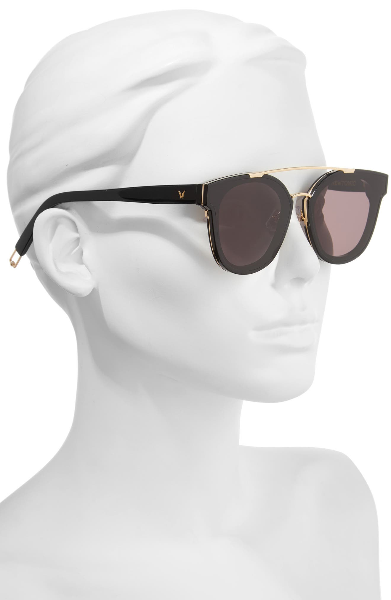 Tilda Swinton x Gentle Monster Newtonic 60mm Rounded Sunglasses,                             Alternate thumbnail 2, color,                             Black