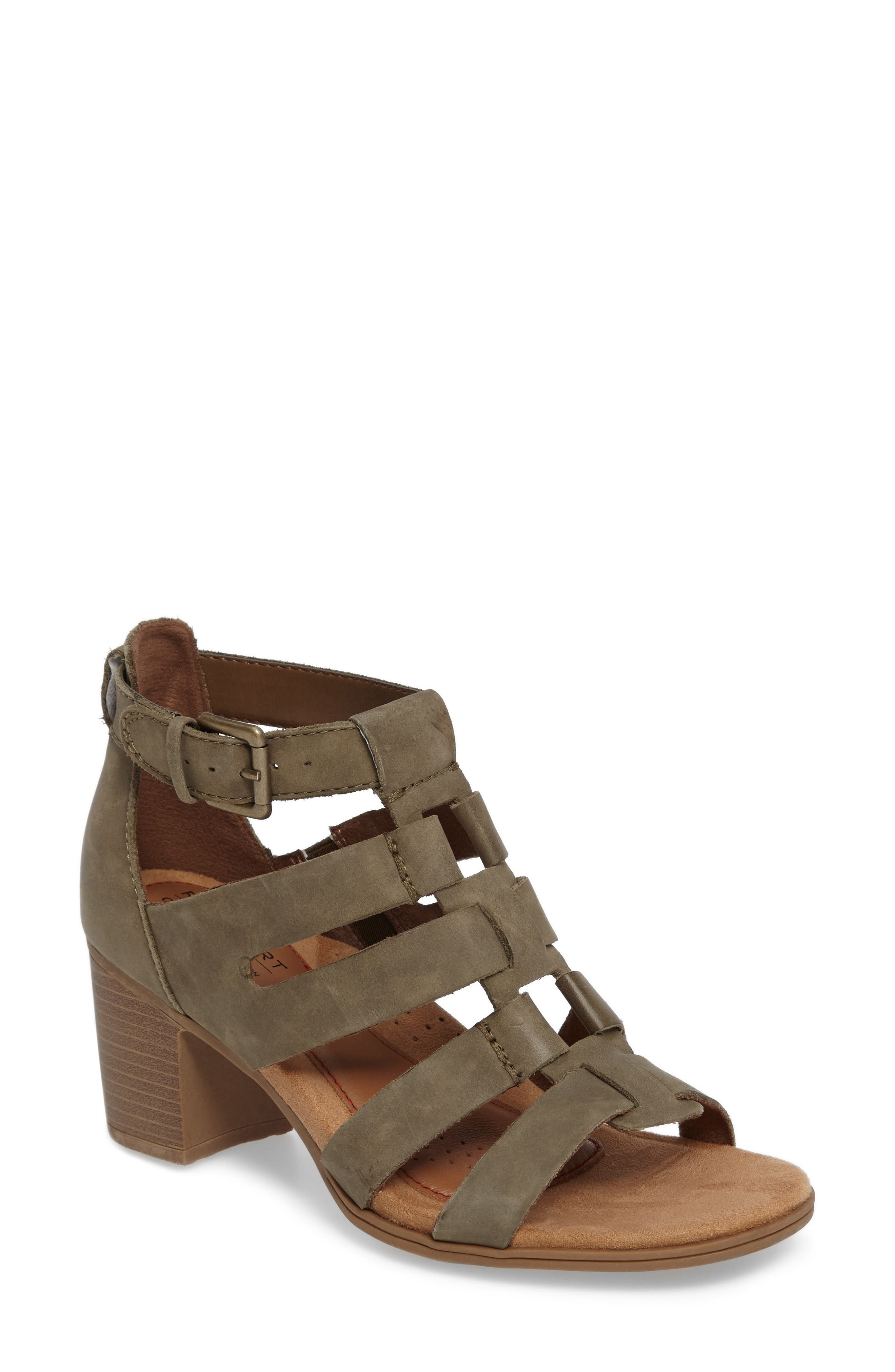 Alternate Image 1 Selected - Rockport Cobb Hill Hattie Block Heel Gladiator Sandal (Women)