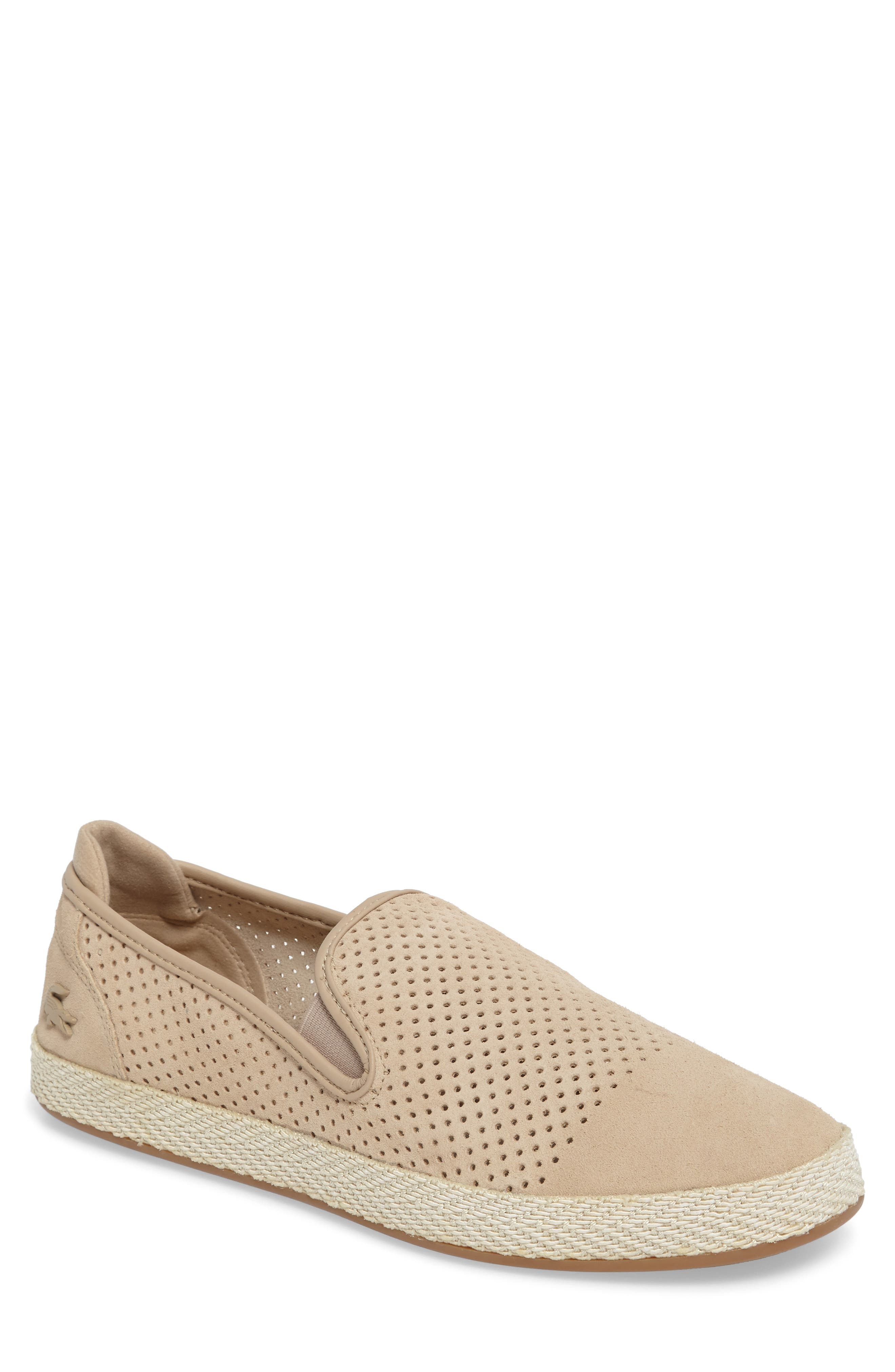 Tombre Slip-On,                             Main thumbnail 1, color,                             Natural Suede