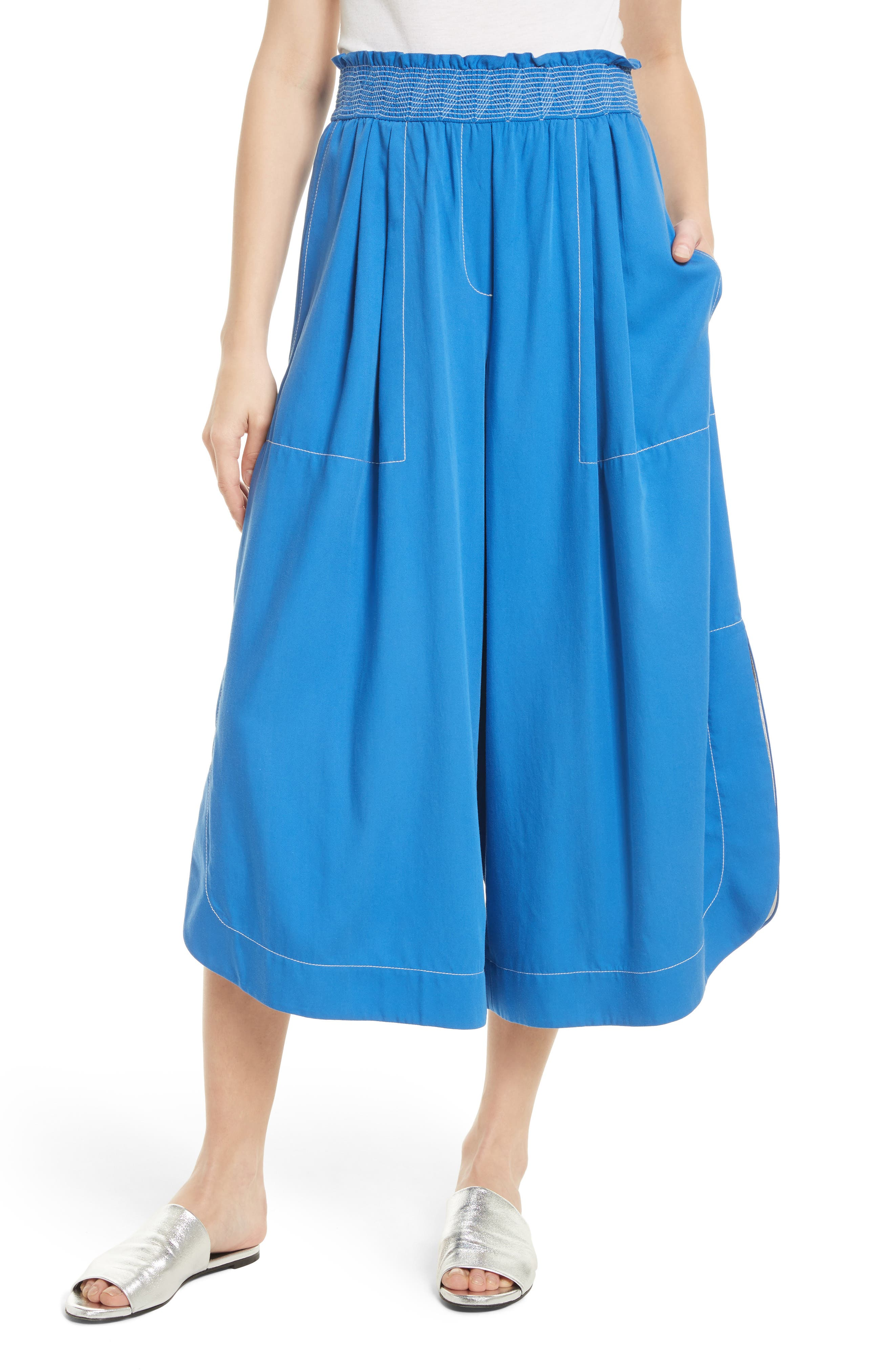 TRACY REESE Soft Smocked Waist Culottes
