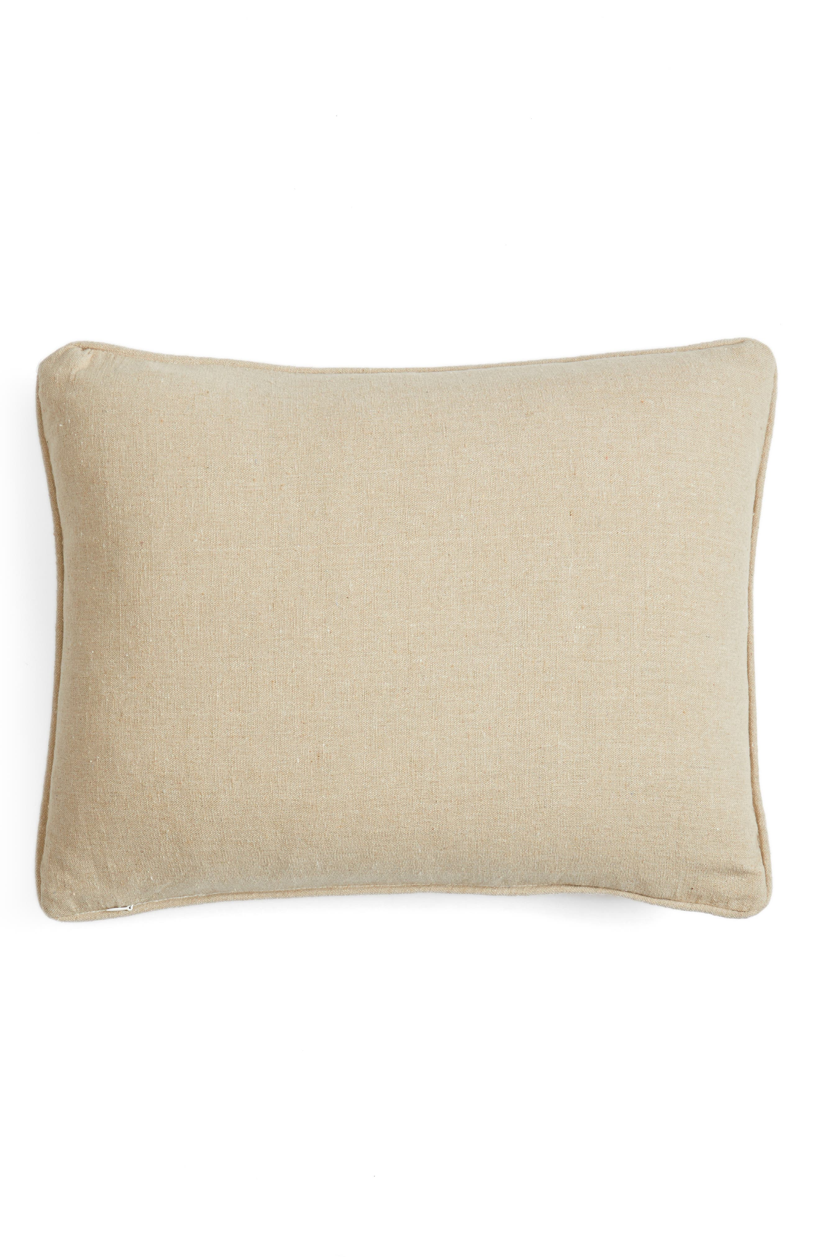 Fira Crewel Stitch Accent Pillow,                             Alternate thumbnail 2, color,                             Red