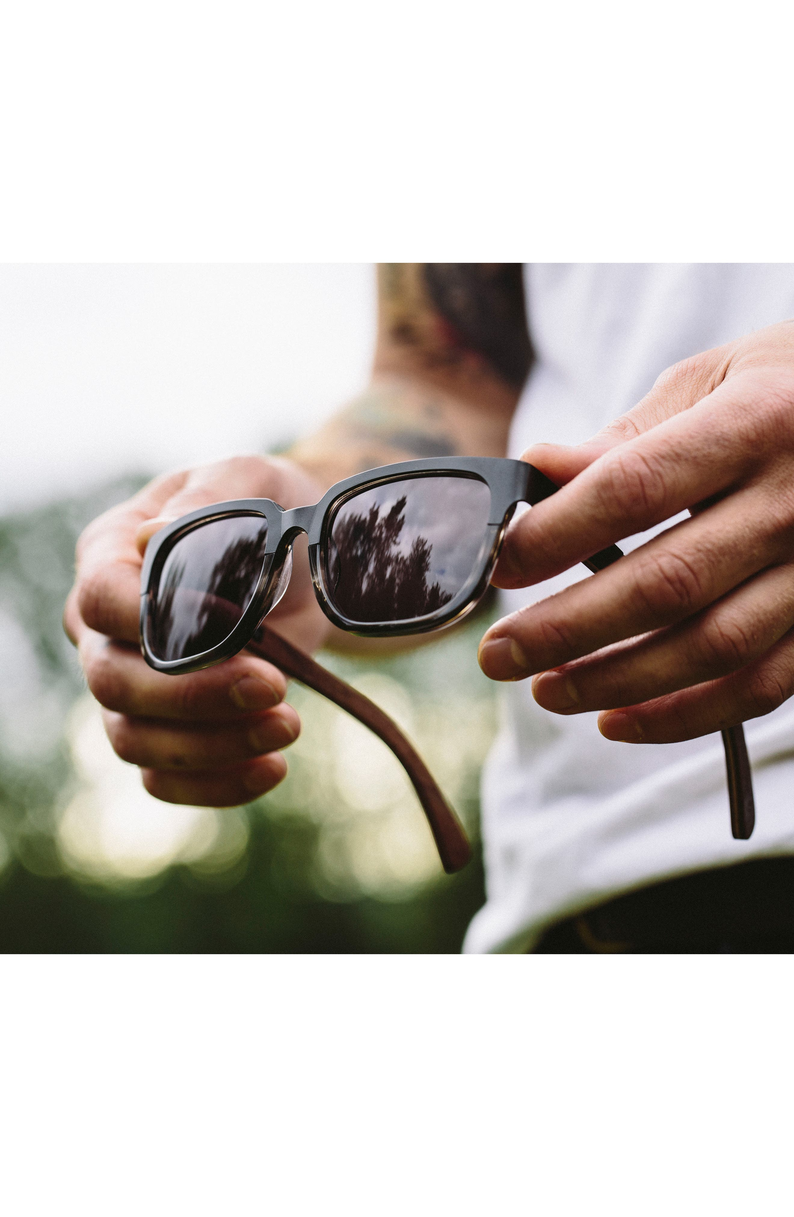 Alternate Image 2  - Shwood 'Prescott' 52mm Titanium & Wood Sunglasses