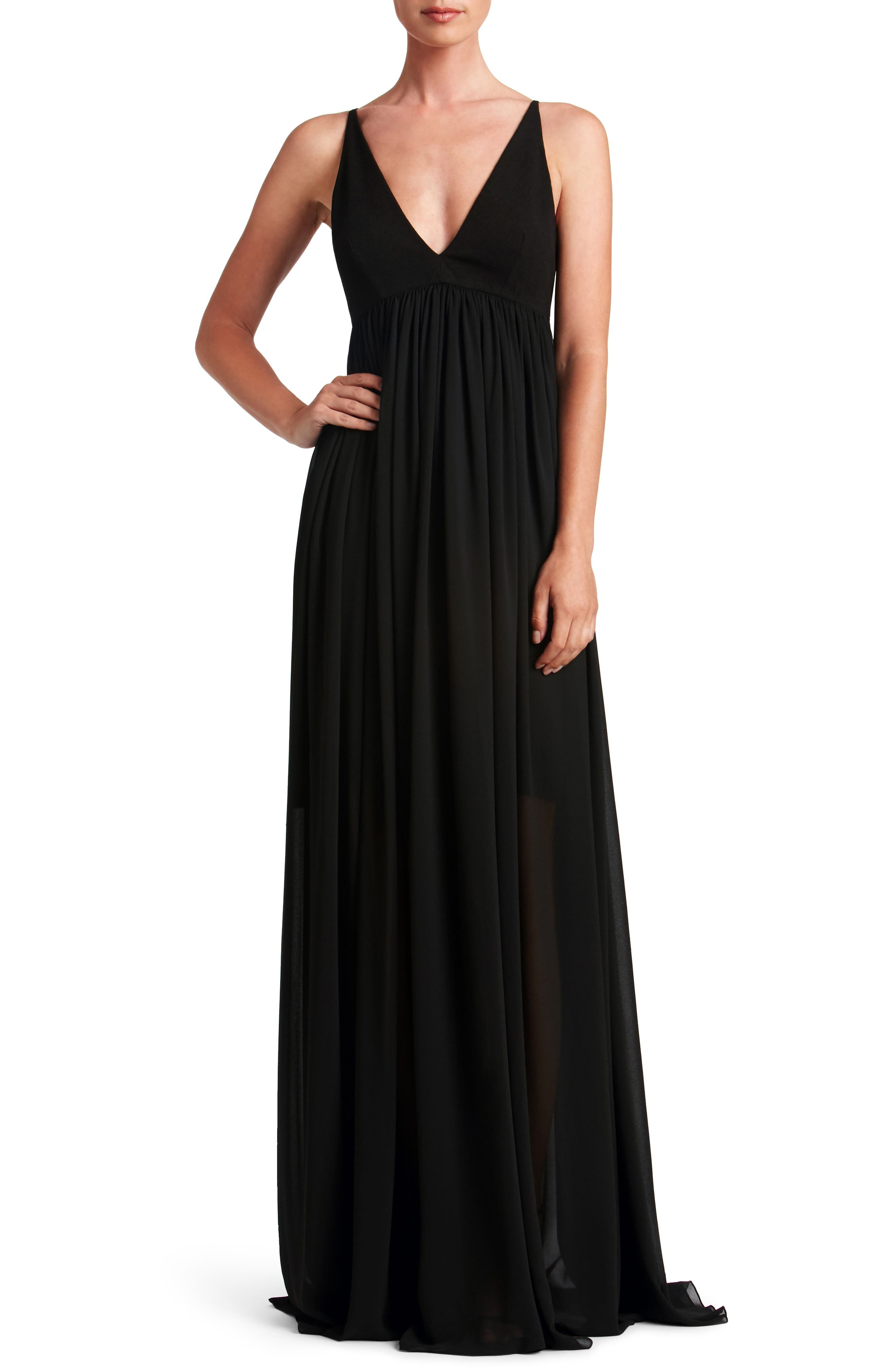 Alternate Image 1 Selected - Dress the Population Phoebe Chiffon Gown