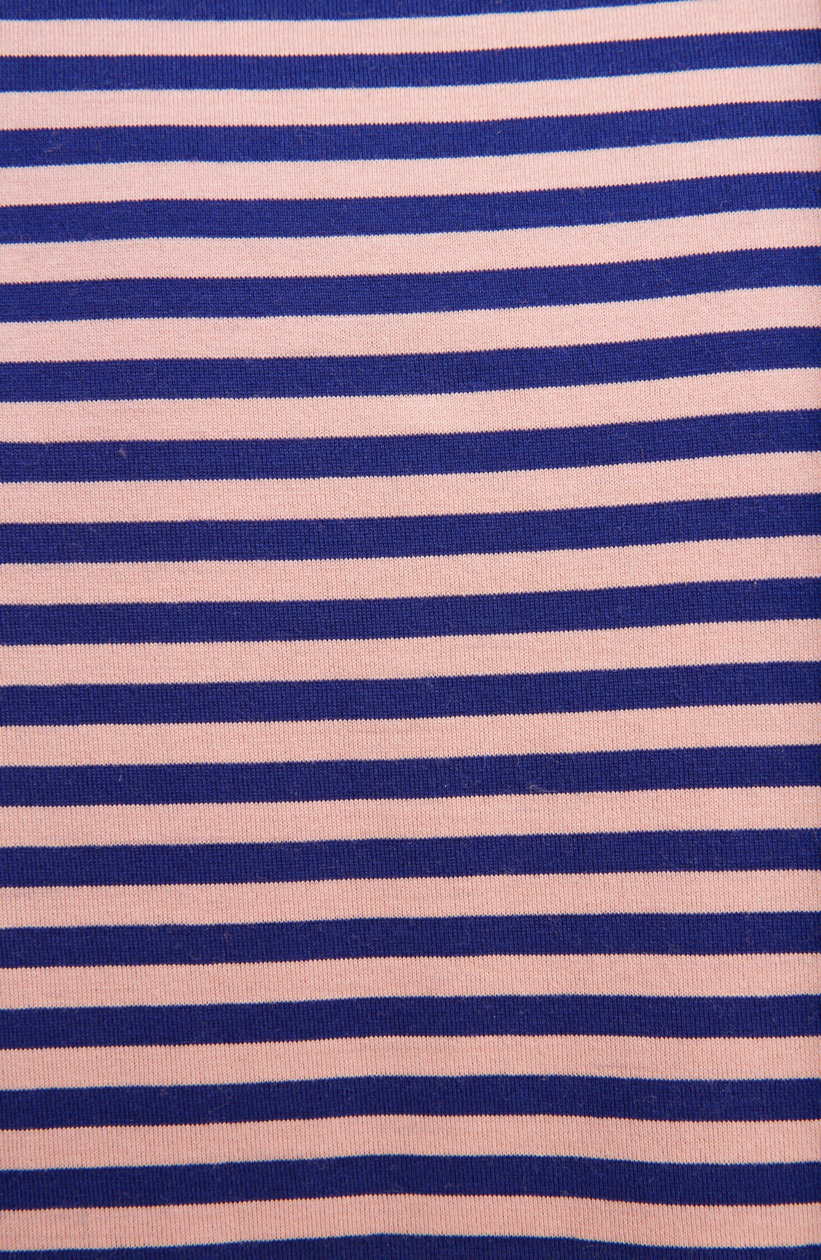 Napa Face Stripe Tee,                             Alternate thumbnail 3, color,                             Pale Pink/ Royal Blue
