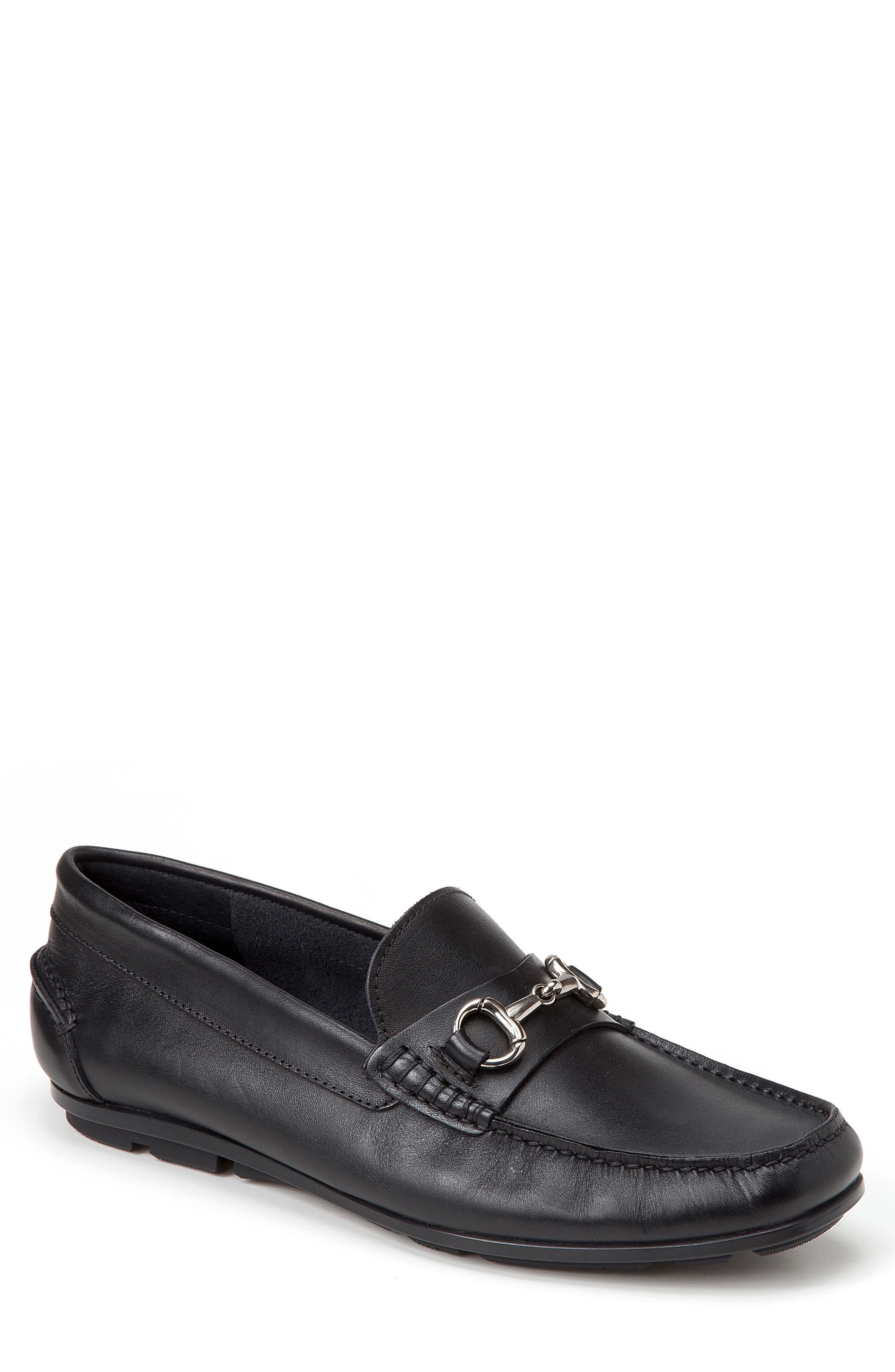 Marco Moc Toe Loafer,                             Main thumbnail 1, color,                             Black Leather
