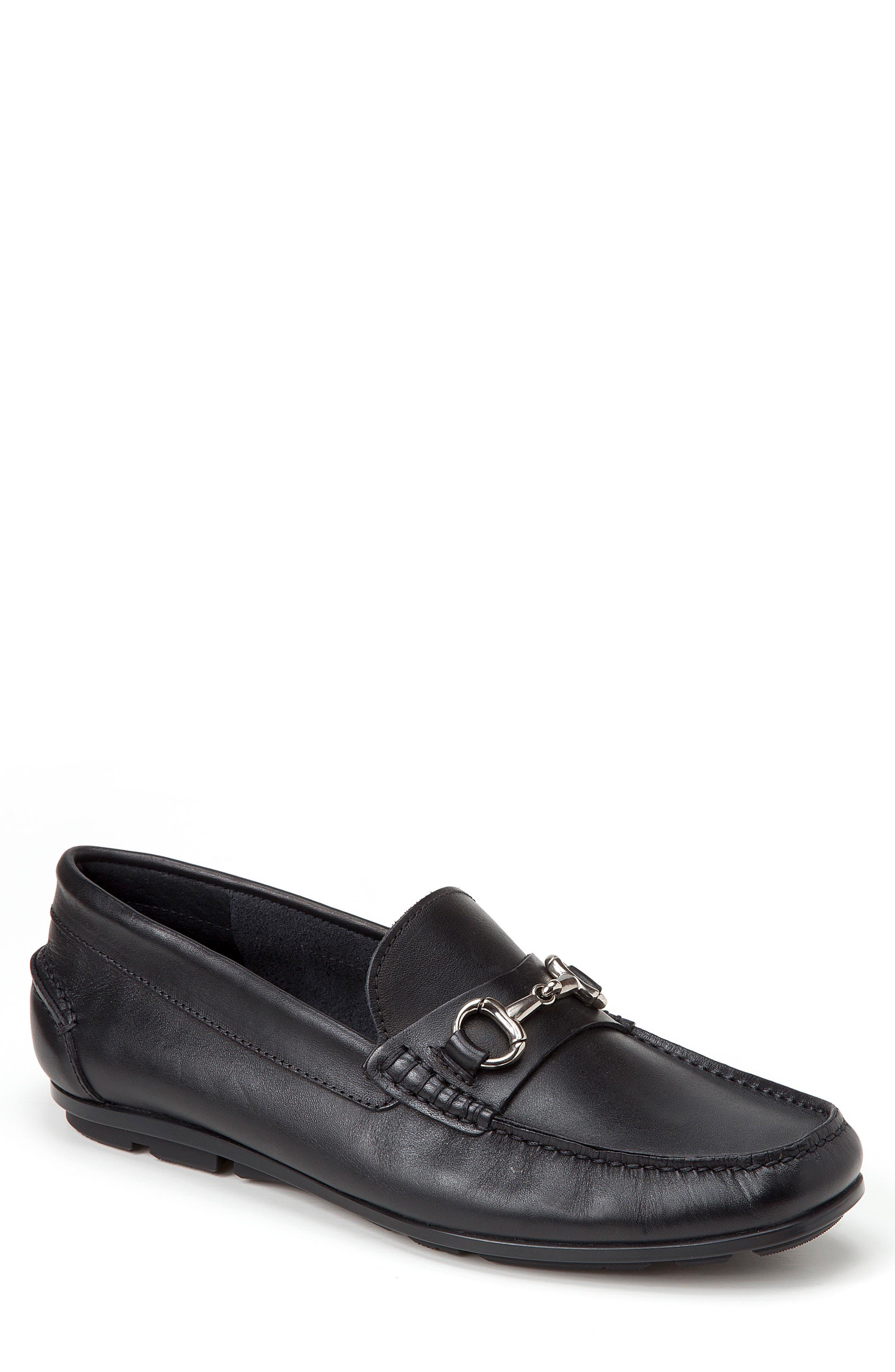 Marco Moc Toe Loafer,                         Main,                         color, Black Leather