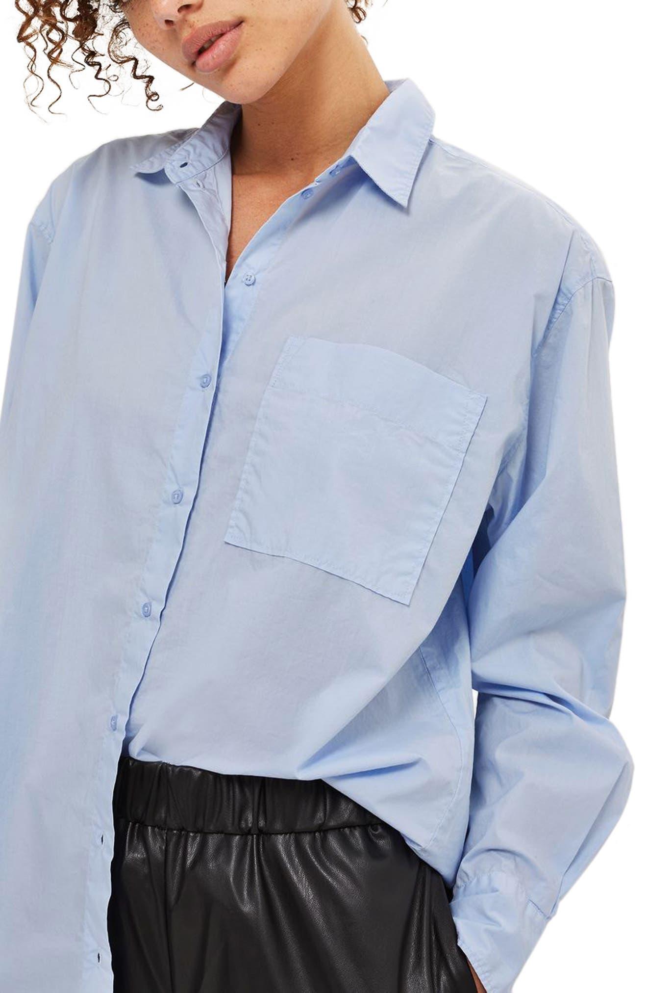Topshop Olly Oversized Poplin Shirt