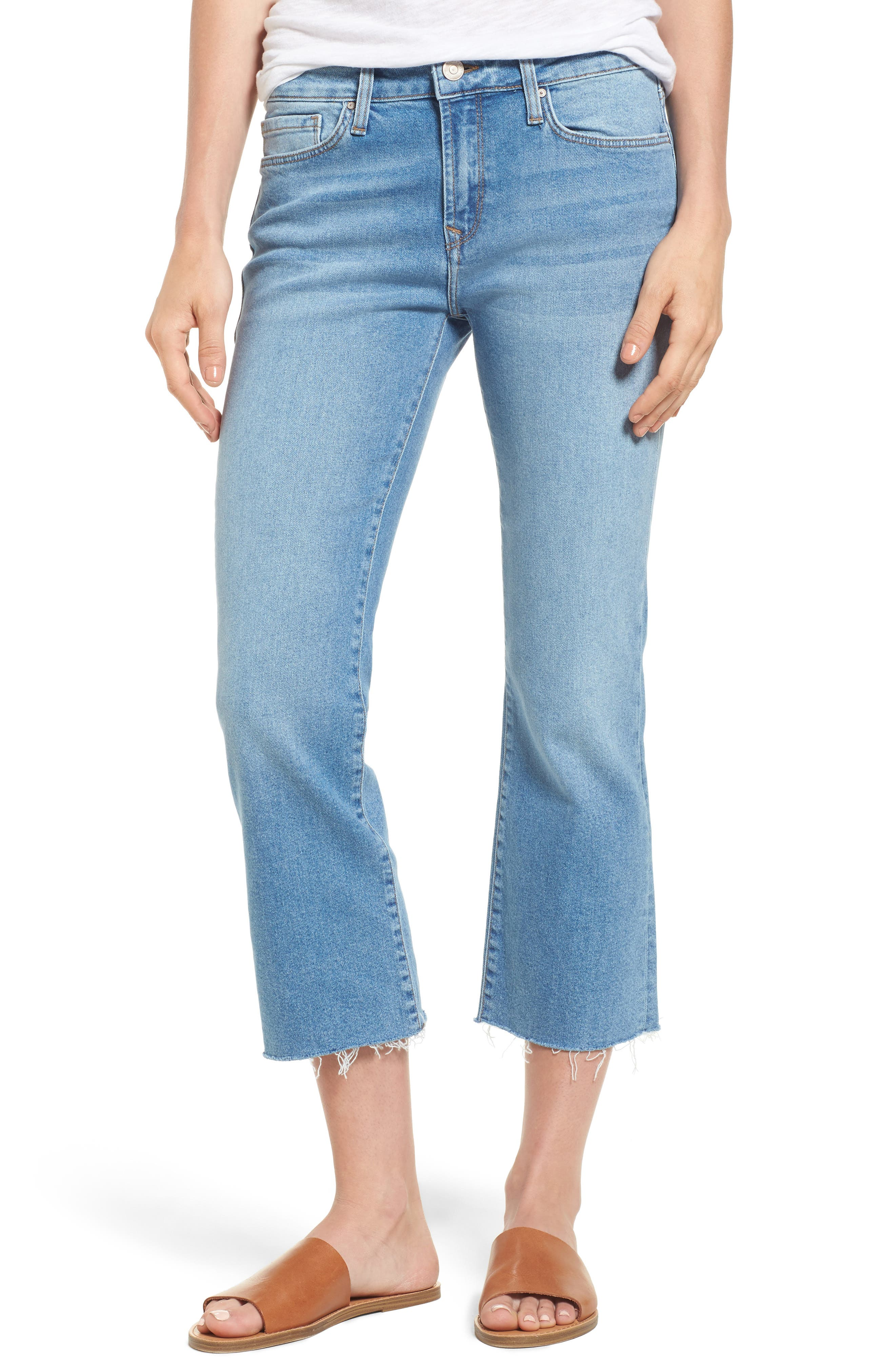 Anika Stretch Crop Jeans,                         Main,                         color, Light Used Retro
