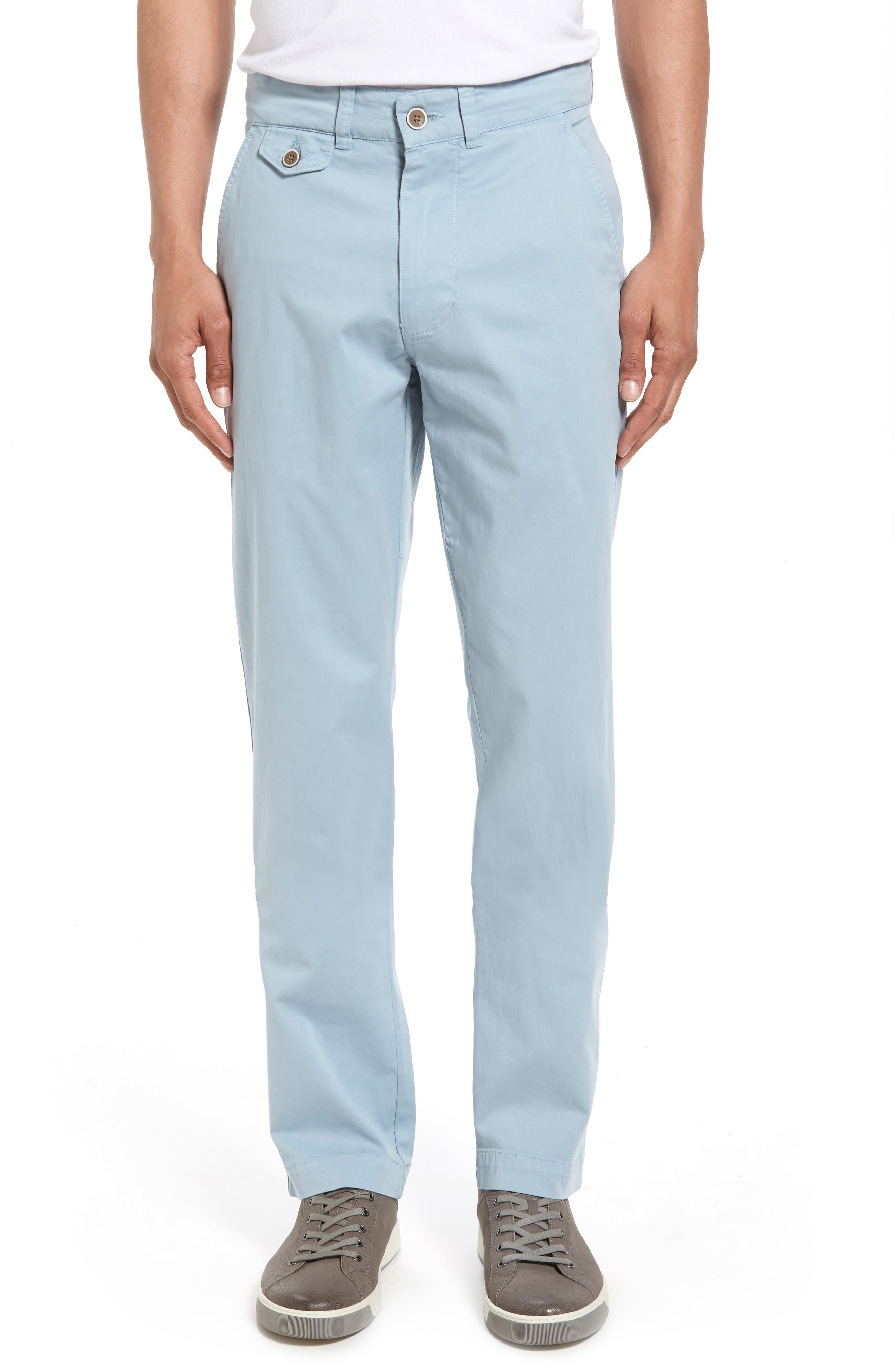 Sunny Modern Fit Stretch Twill Chinos,                             Main thumbnail 1, color,                             Citadel Blue