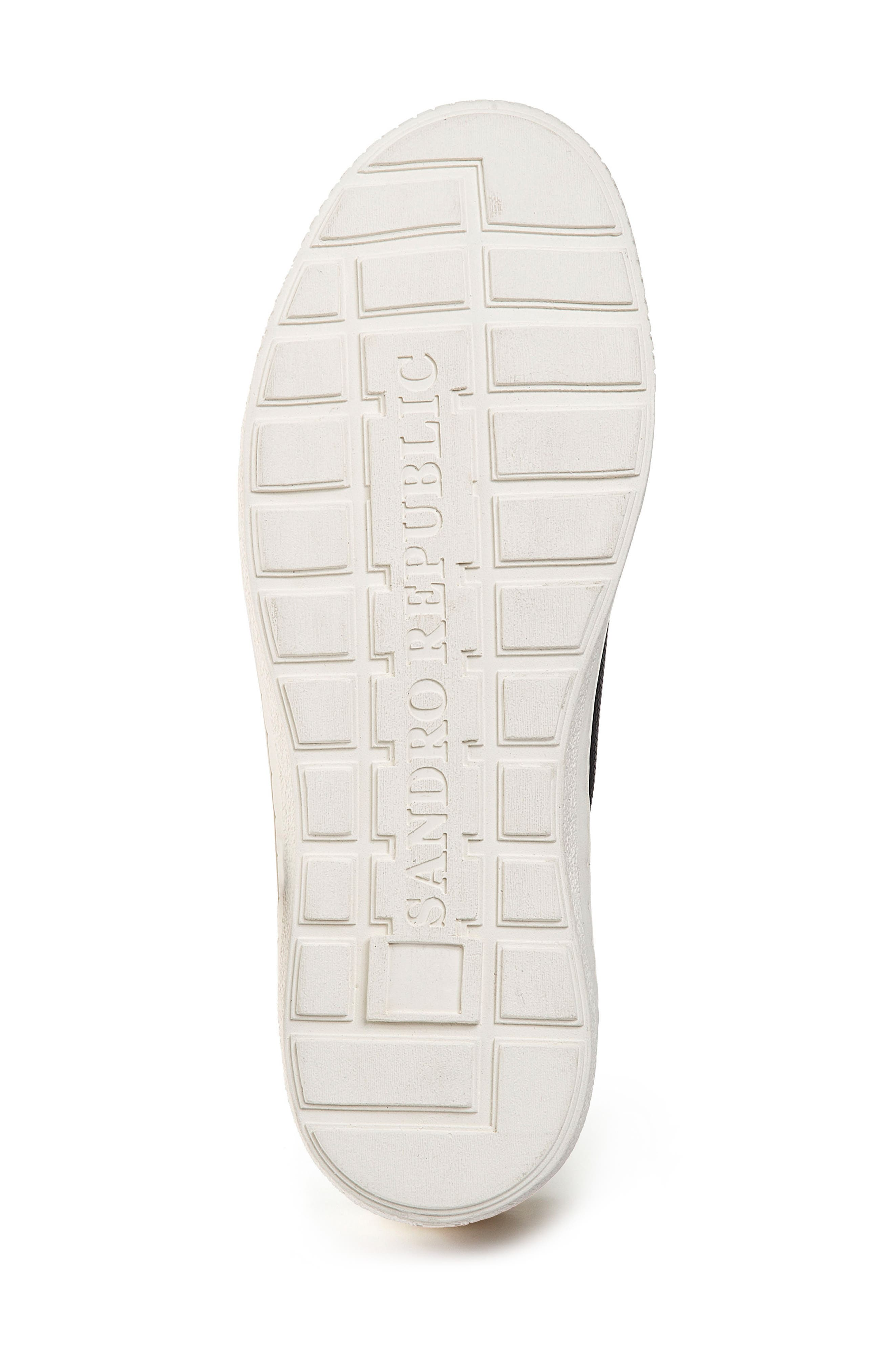 Nico Textured Sneaker,                             Alternate thumbnail 4, color,                             Black Leather