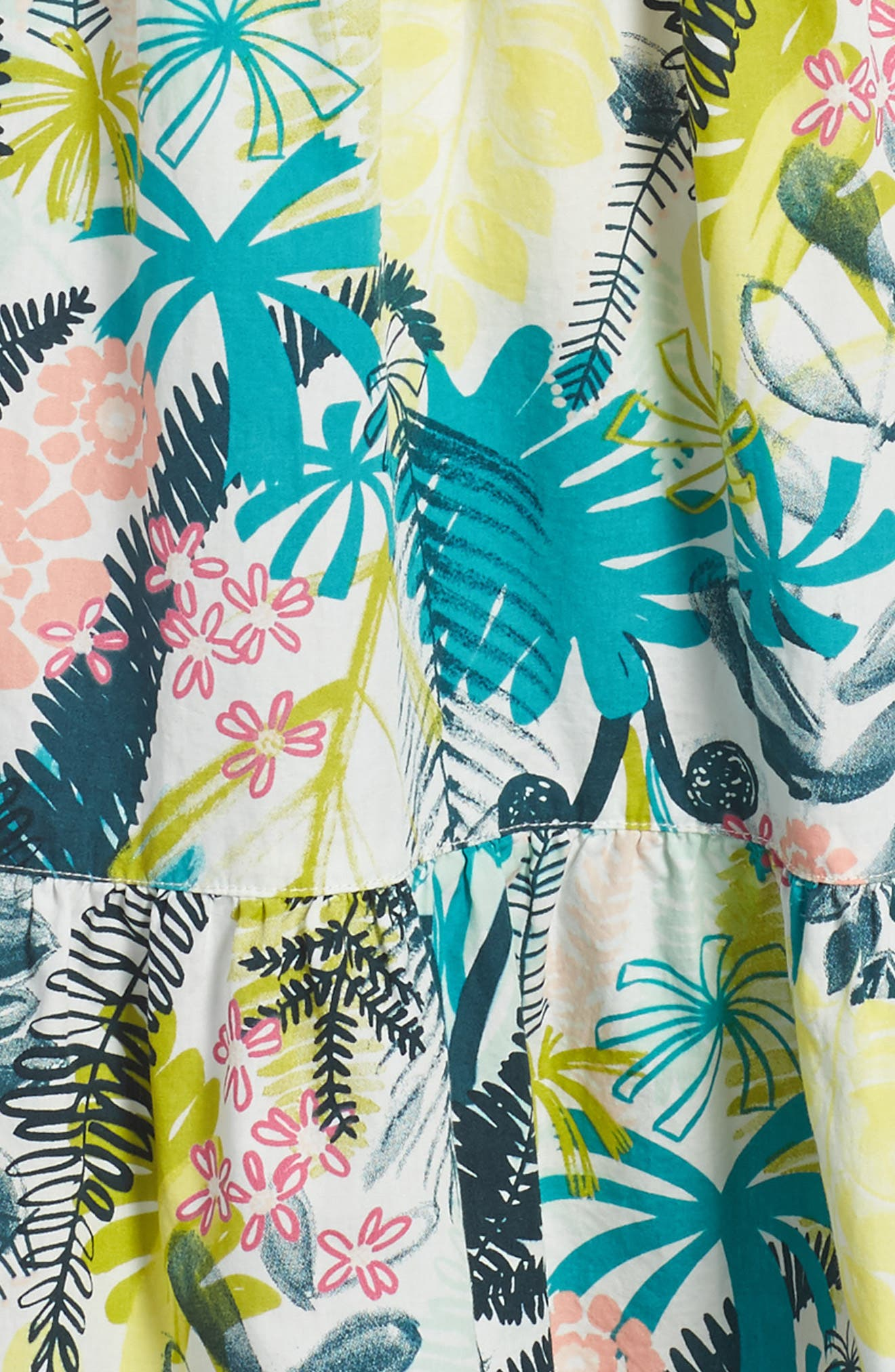 Wujal Wujal Print Tiered Sundress,                             Alternate thumbnail 3, color,                             Chalk