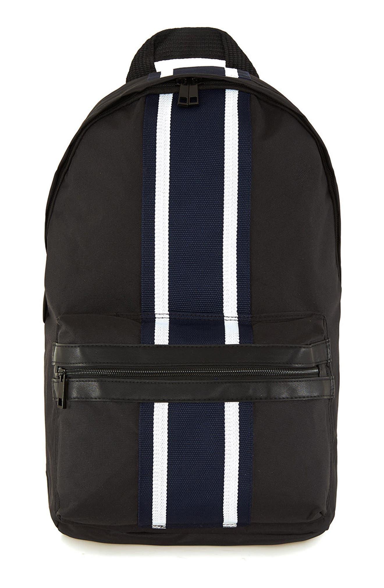 Topman Stripe Backpack