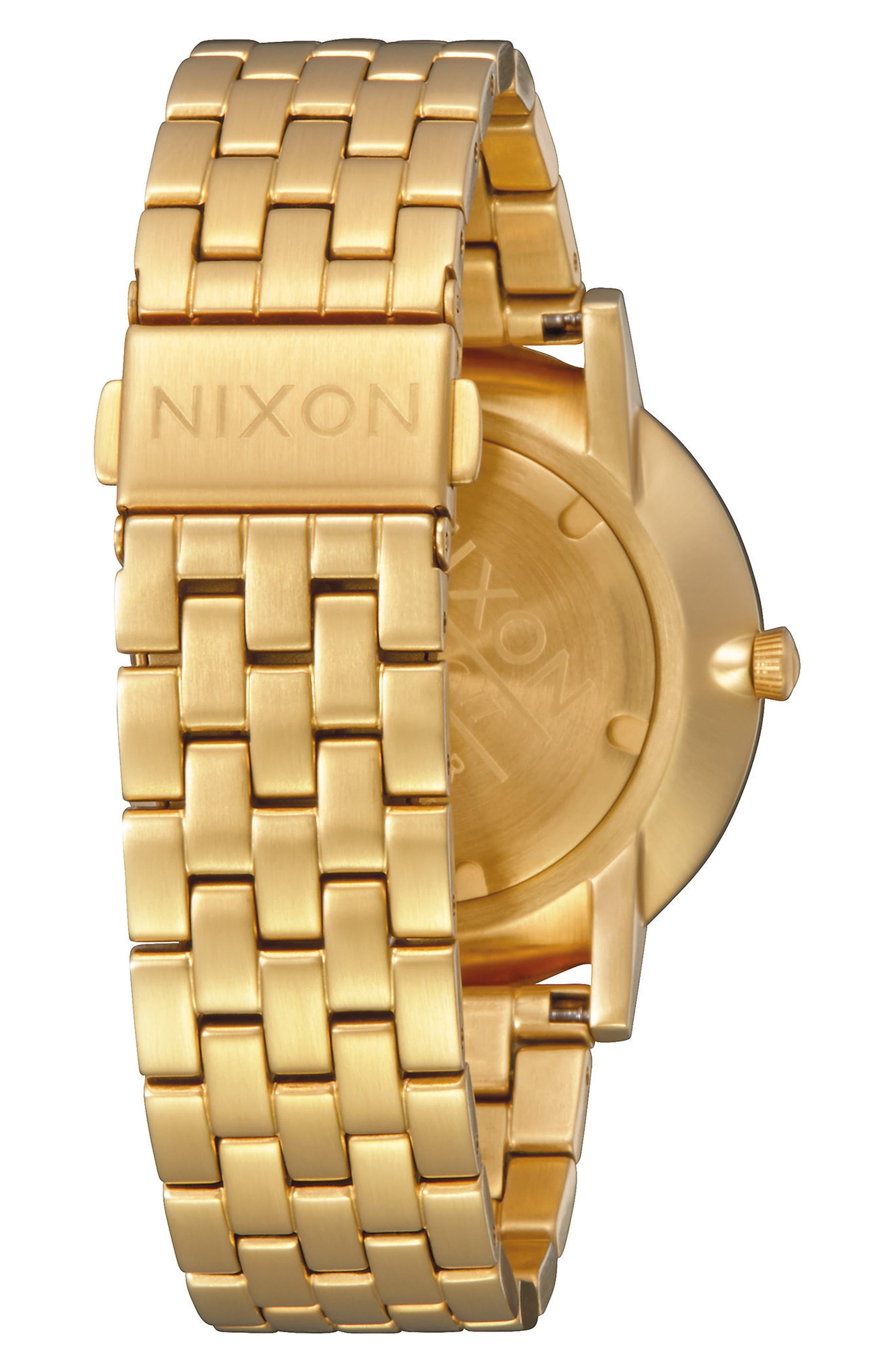 Porter Bracelet Watch, 40mm,                             Alternate thumbnail 2, color,                             Gold/ Olive/ Gold