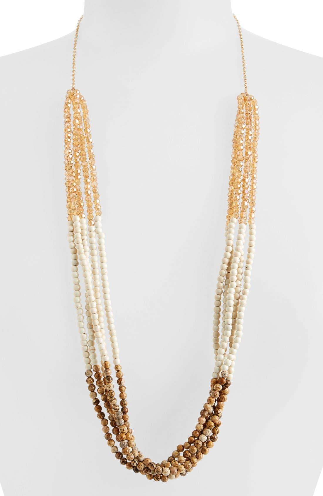 Alternate Image 1 Selected - Panacea Jasper & Howlite Multi Strand Necklace