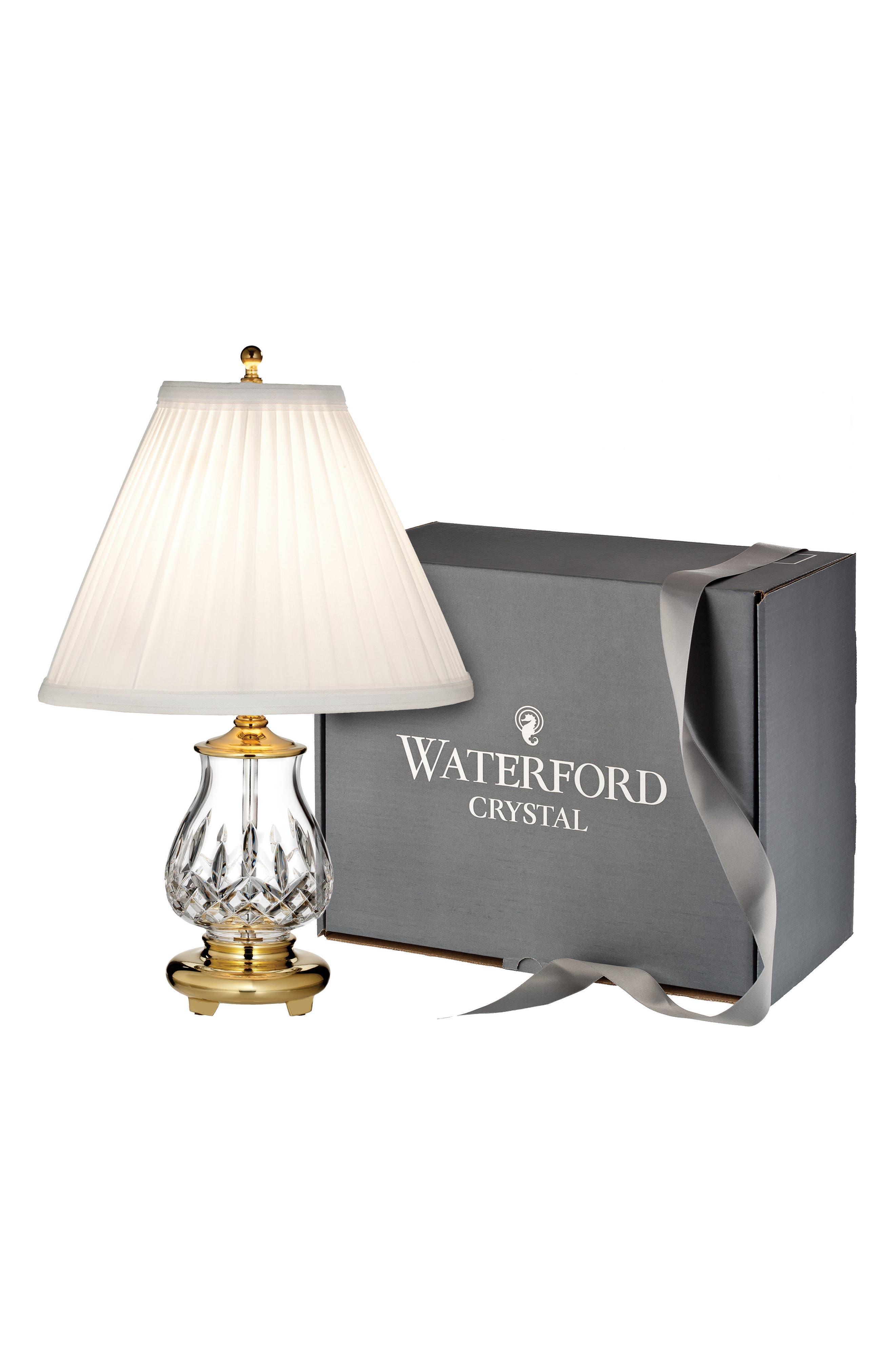 Lismore Lead Crystal Table Lamp,                         Main,                         color, Crystal
