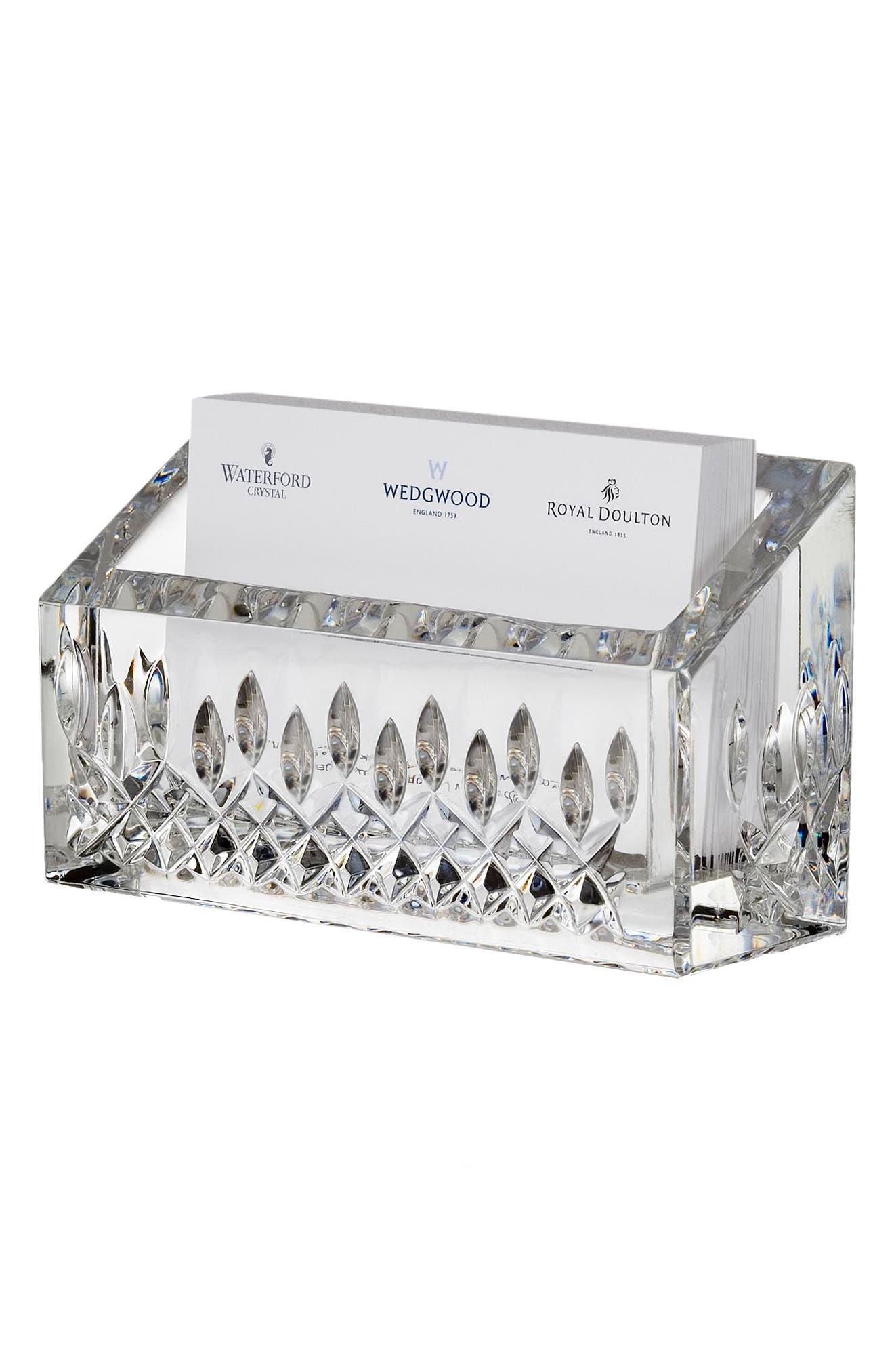 Lismore Lead Crystal Business Card Holder,                         Main,                         color, Crystal