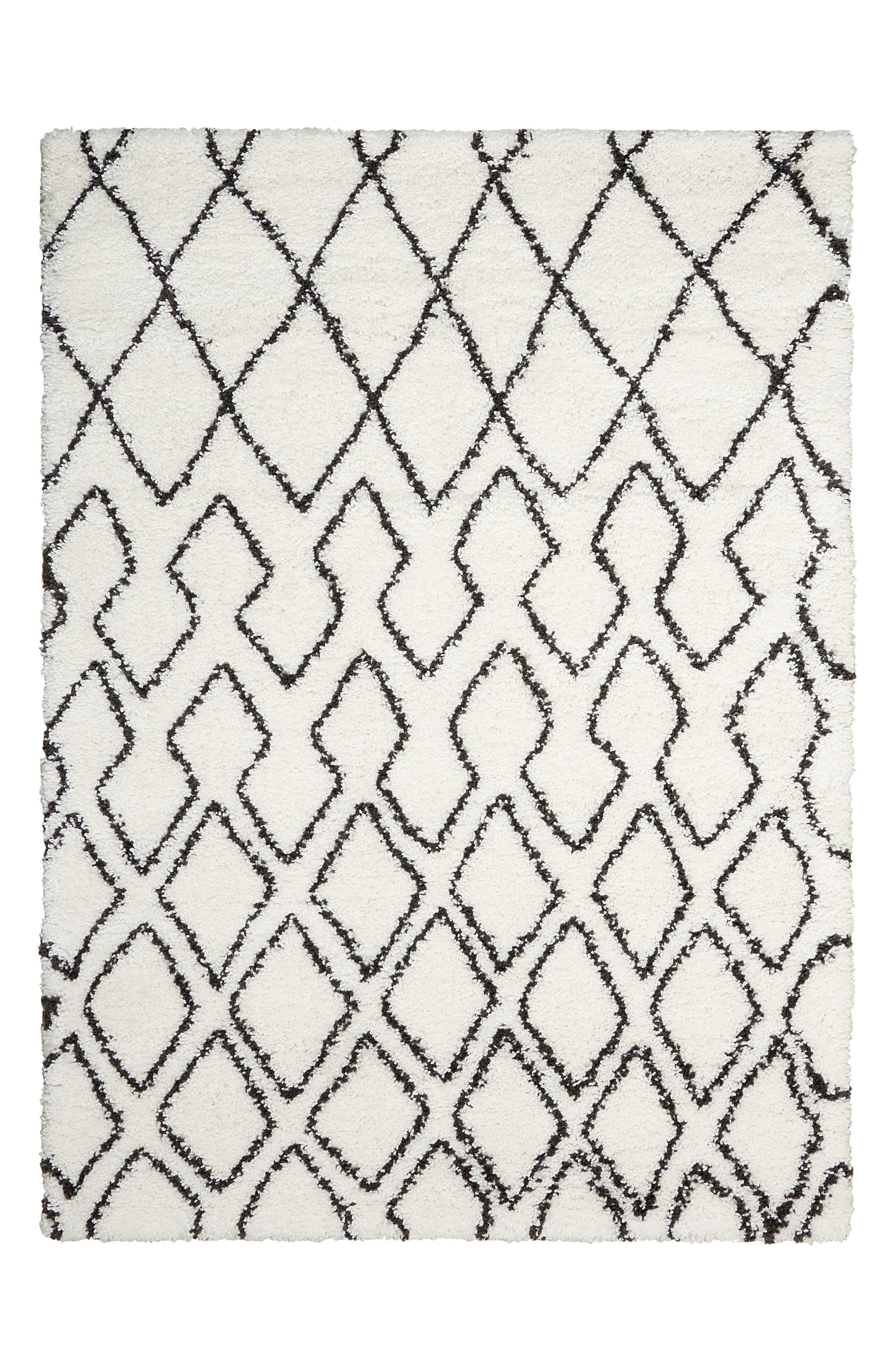 Riad Shag Area Rug,                         Main,                         color, Ivory/ Charcoal