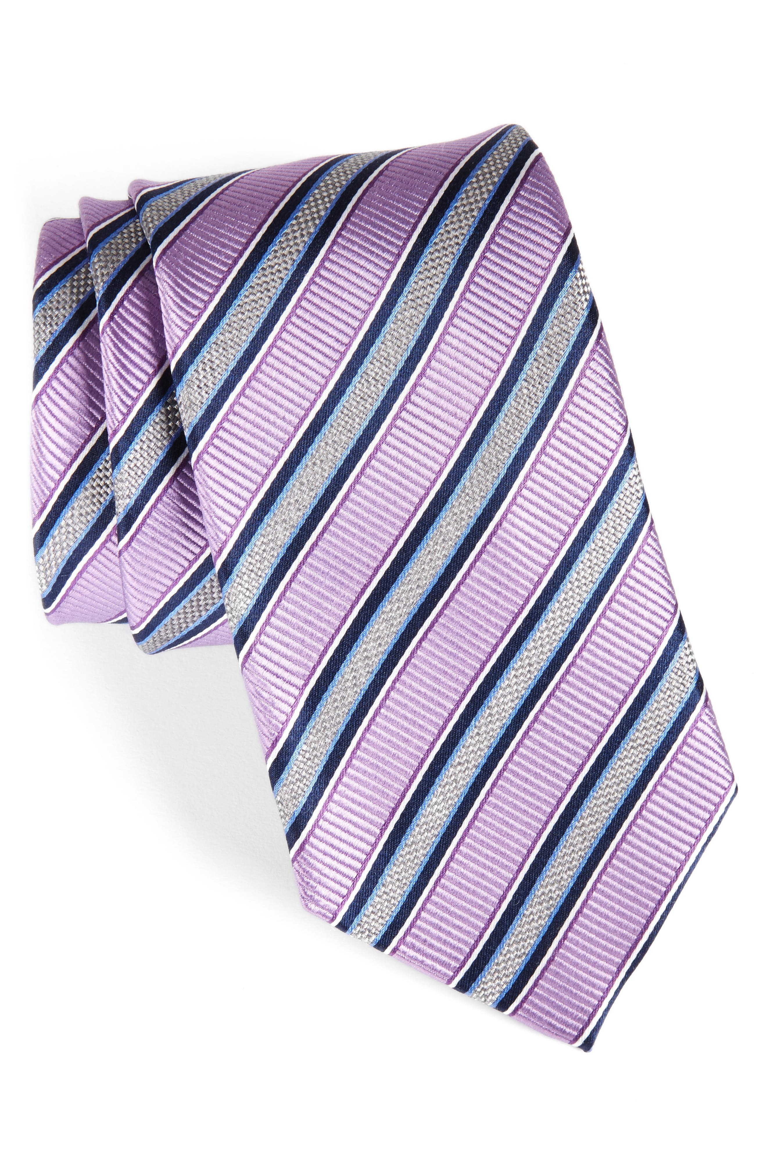 NORDSTROM MENS SHOP Stripe Silk Tie