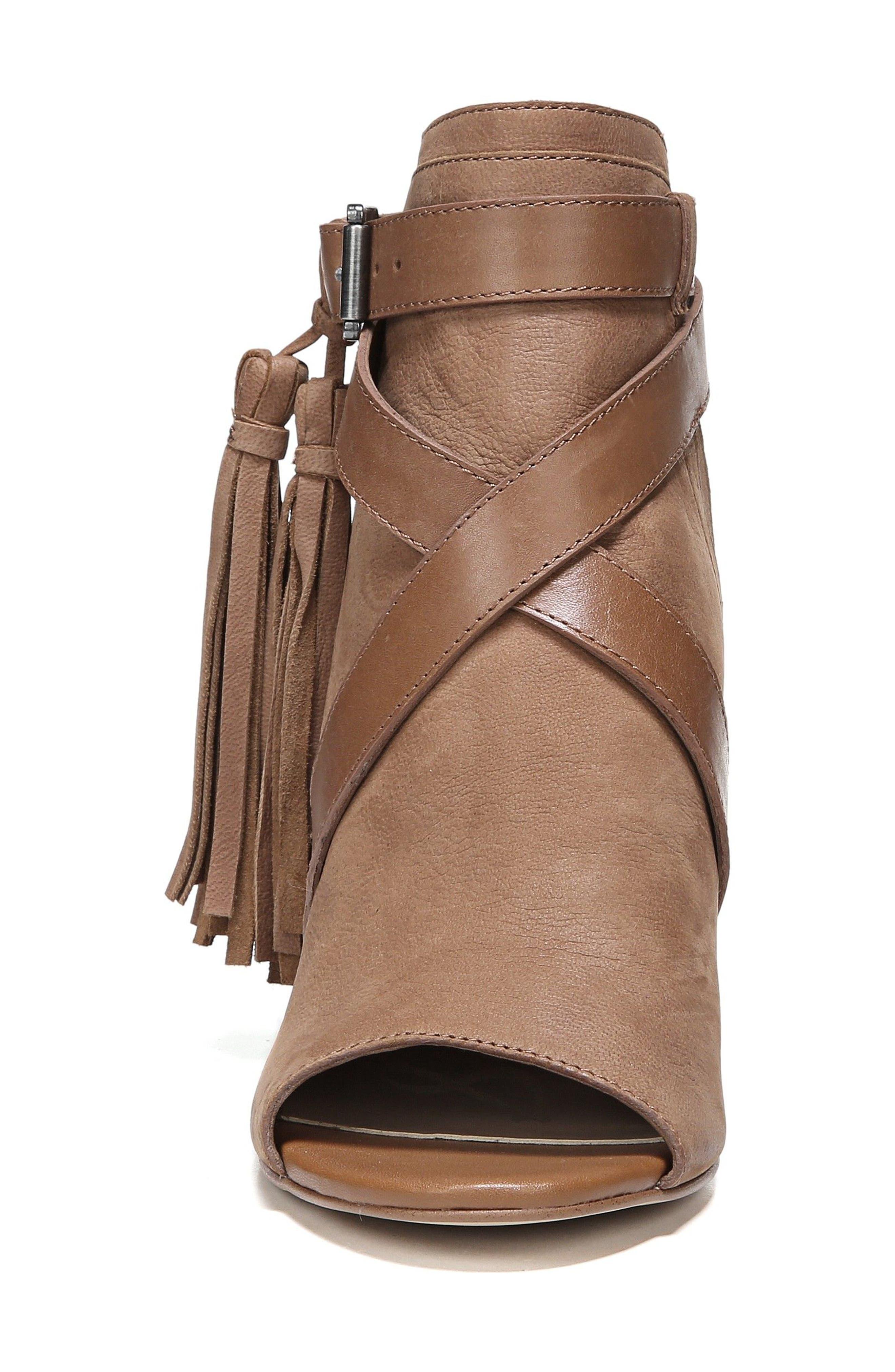 Vermont Block Heel Sandal,                             Alternate thumbnail 4, color,                             Deep Saddle Nubuck Leather