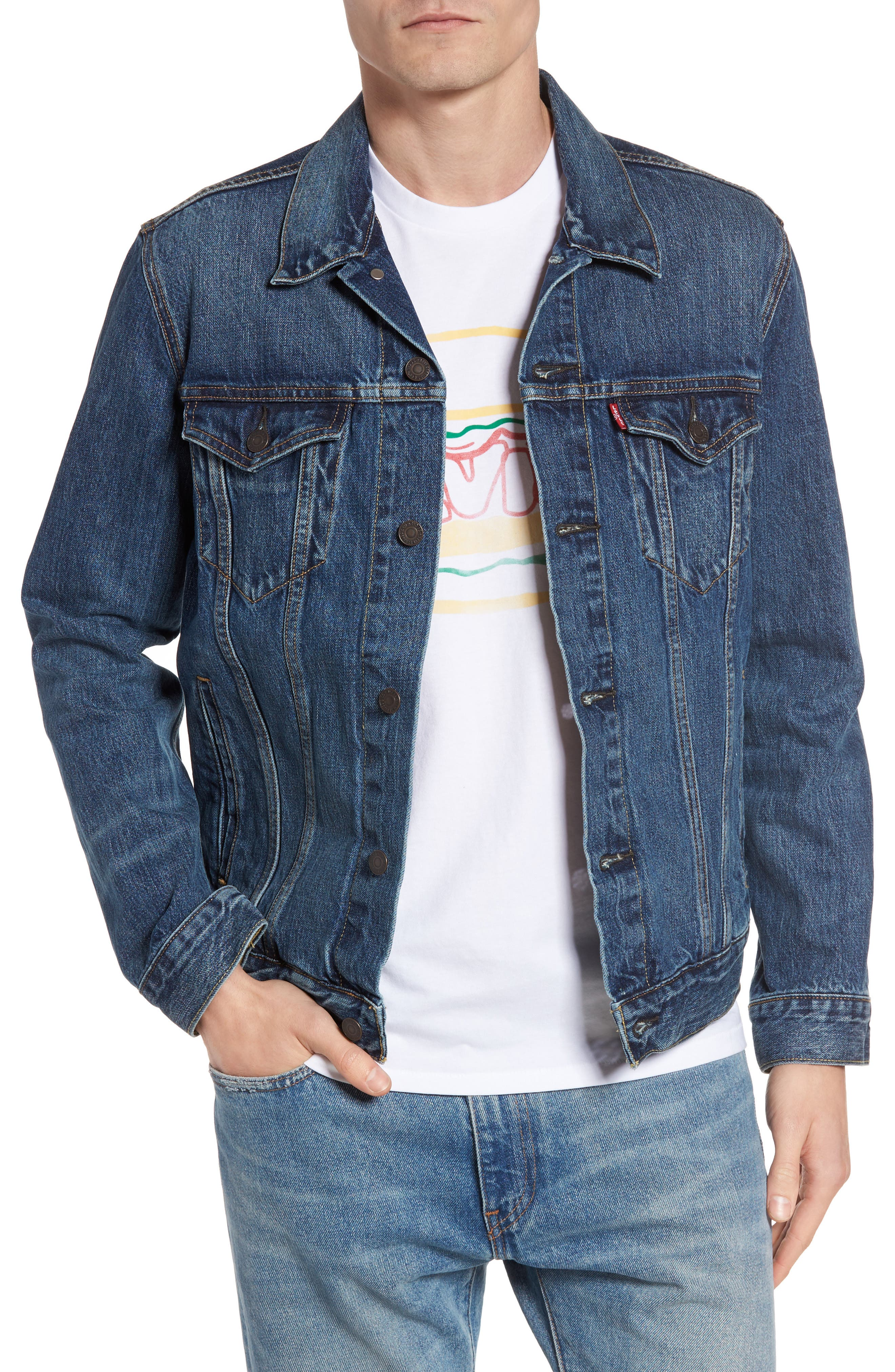 Trucker Denim Jacket,                         Main,                         color, The Shelf
