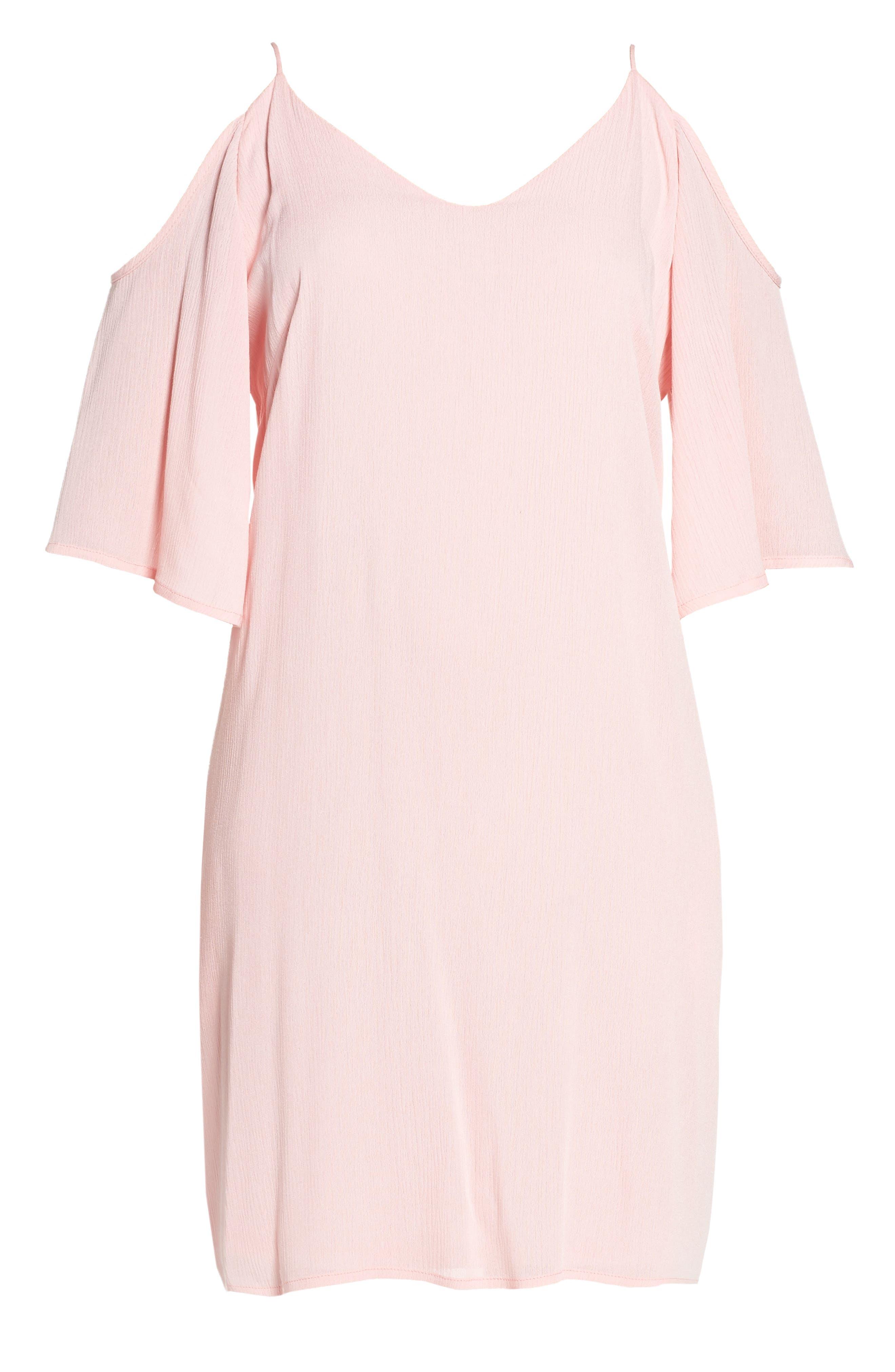 Alternate Image 5  - Fraiche by J Cold Shoulder Shift Dress