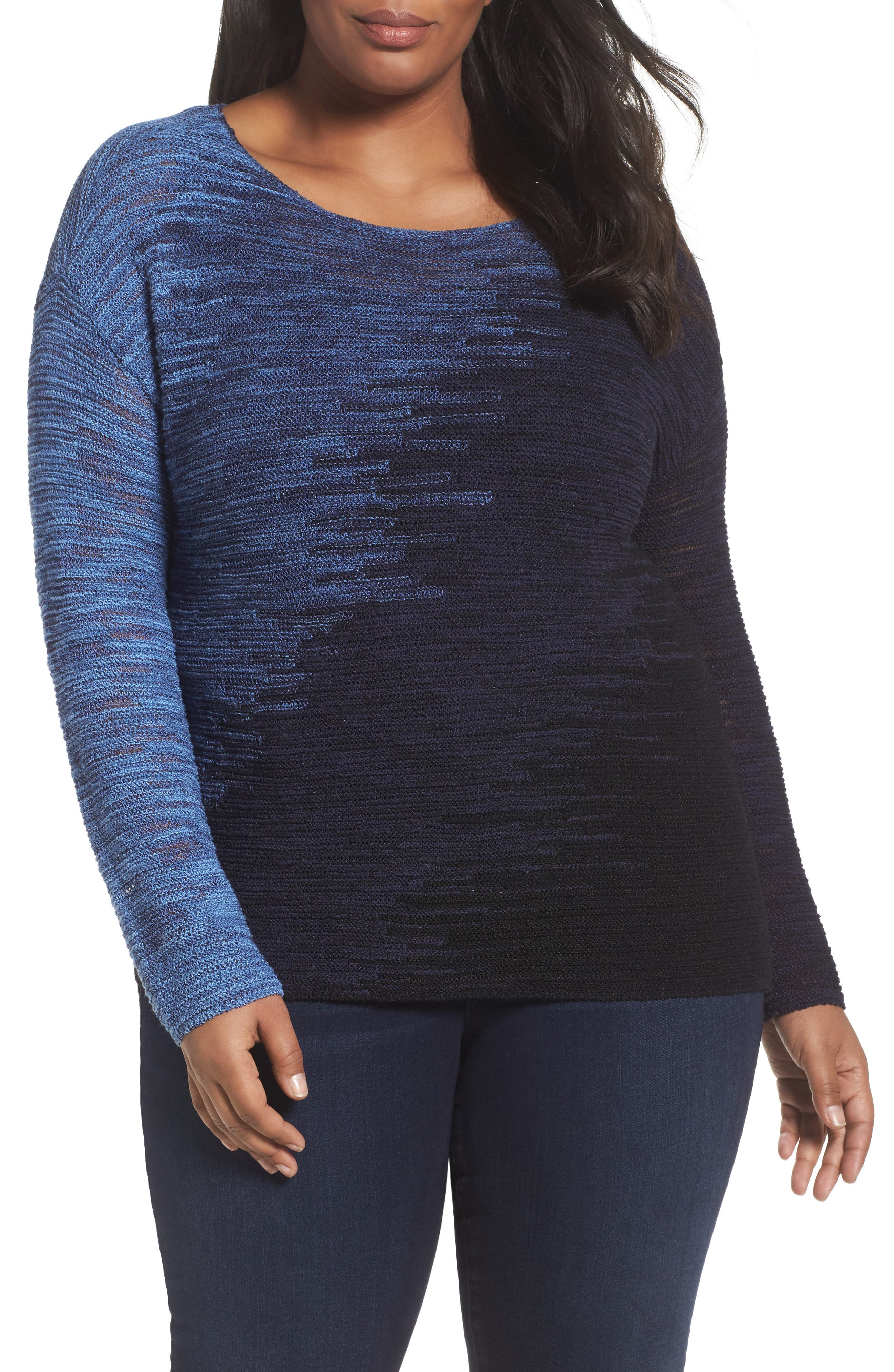 NIC+ZOE Blurred Lines Top (Plus Size)