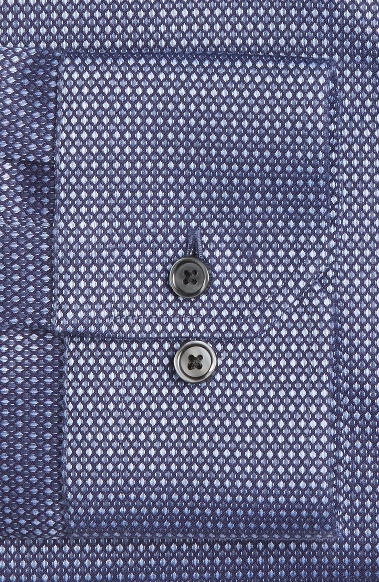 Alternate Image 4  - Calibrate Trim Fit Non-Iron Stretch Dot Dress Shirt