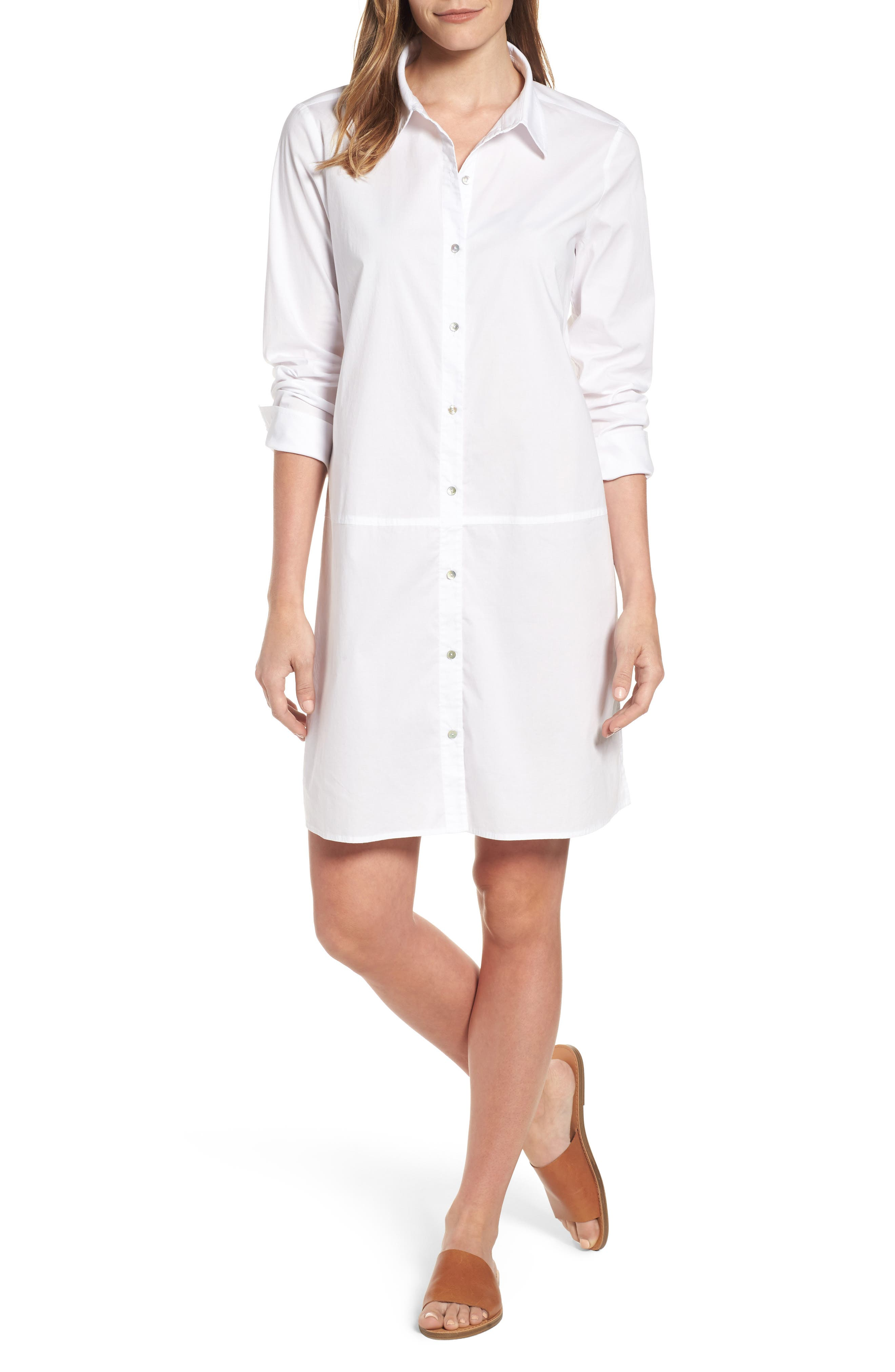 Eileen Fisher Stretch Organic Cotton Shirtdress