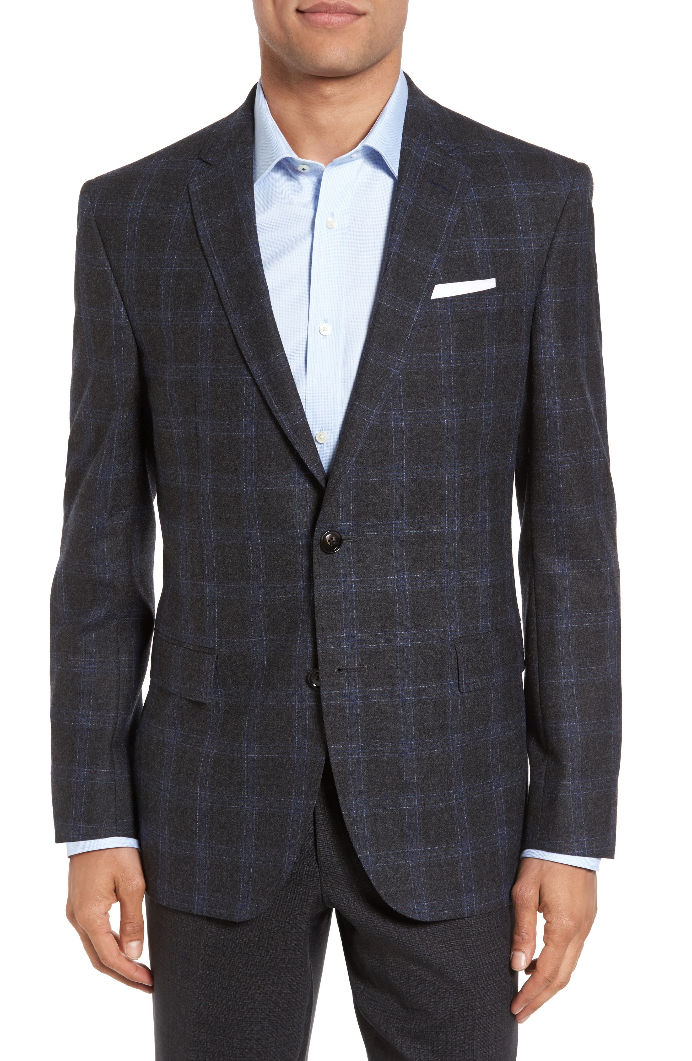 TED BAKER LONDON Jay Trim Fit Plaid Wool Sport Coat