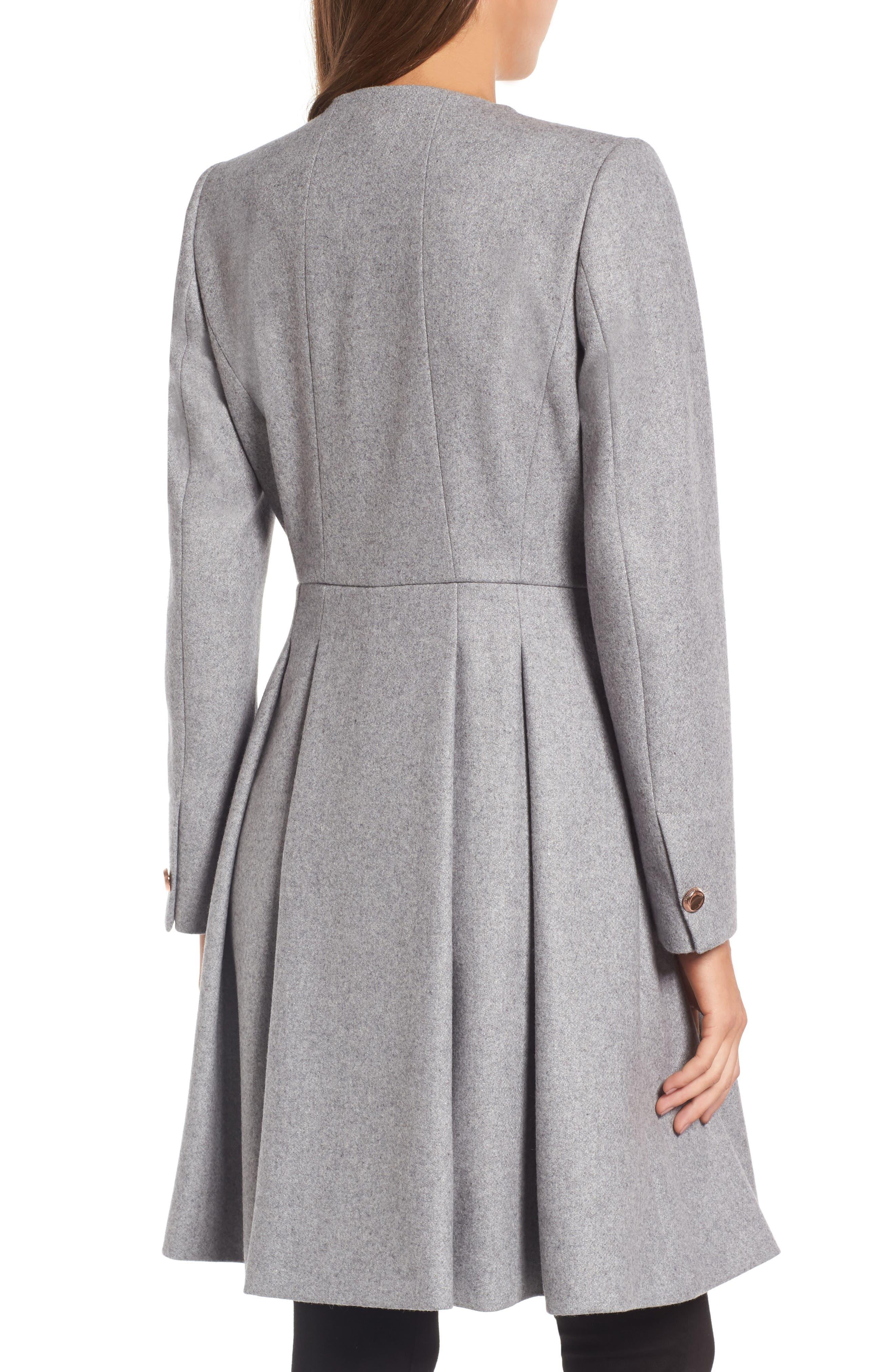 Alternate Image 2  - Ted Baker London Wool Blend Asymmetrical Skirted Coat