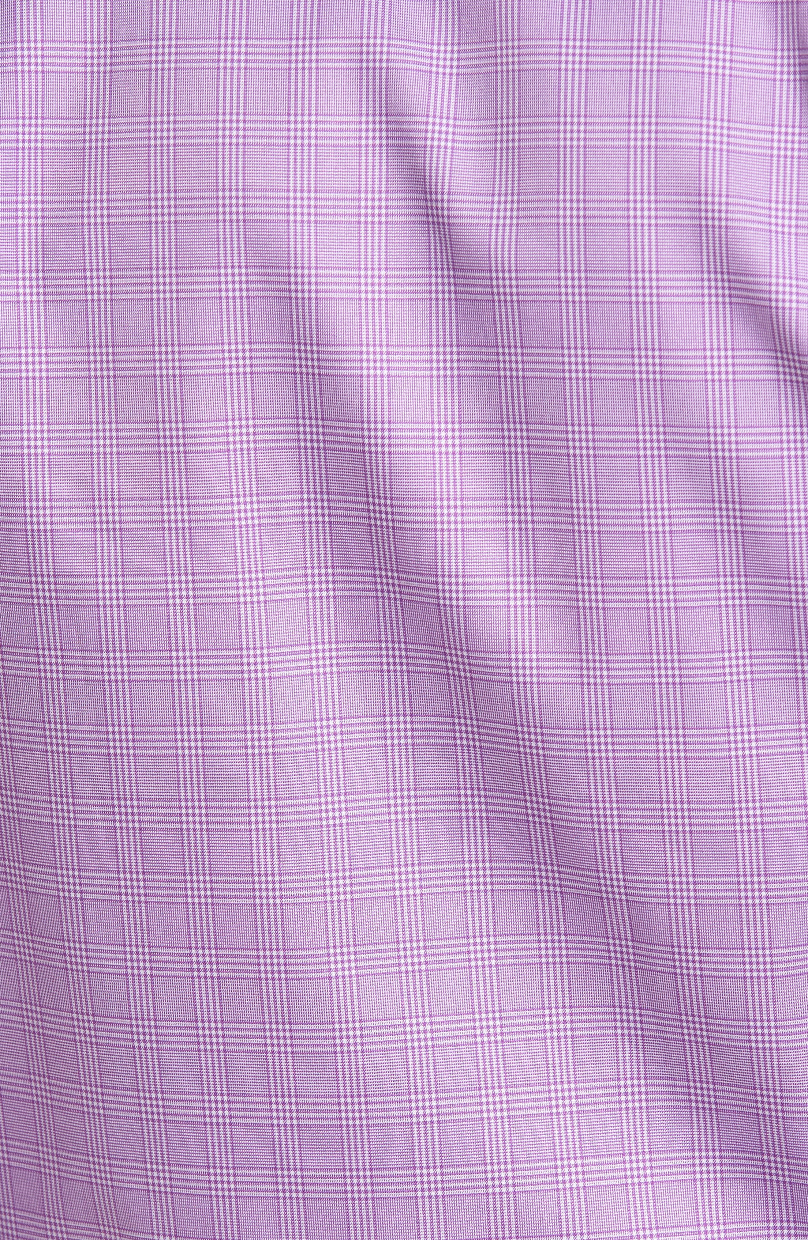 Regular Fit Plaid Sport Shirt,                             Alternate thumbnail 5, color,                             Lilac