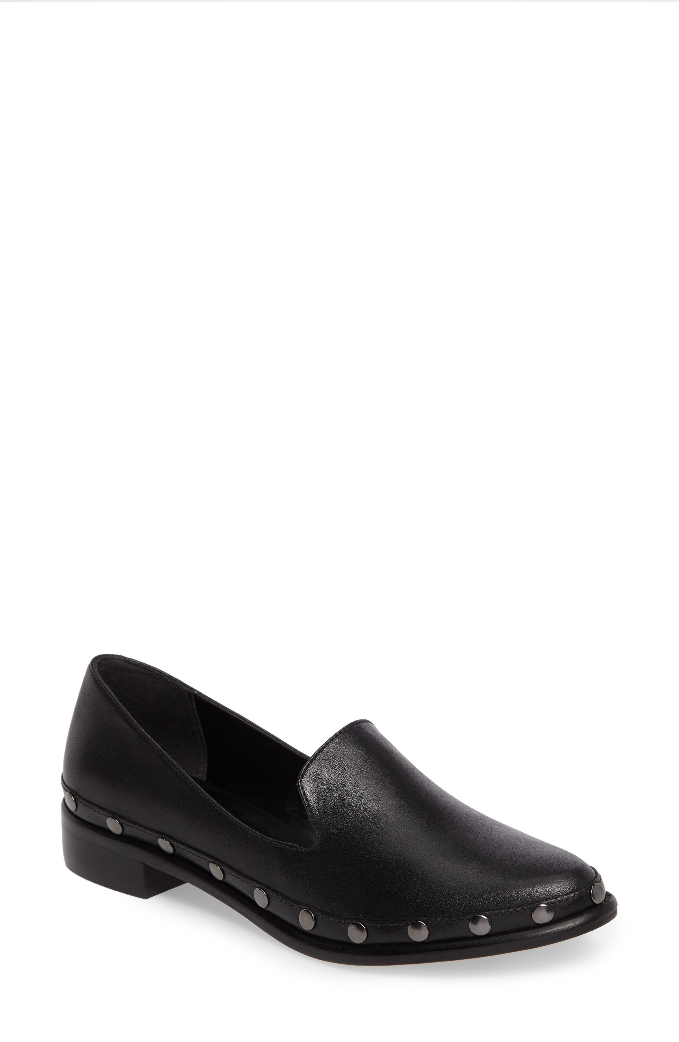 M4D3 Oceania Loafer,                         Main,                         color, Black Leather