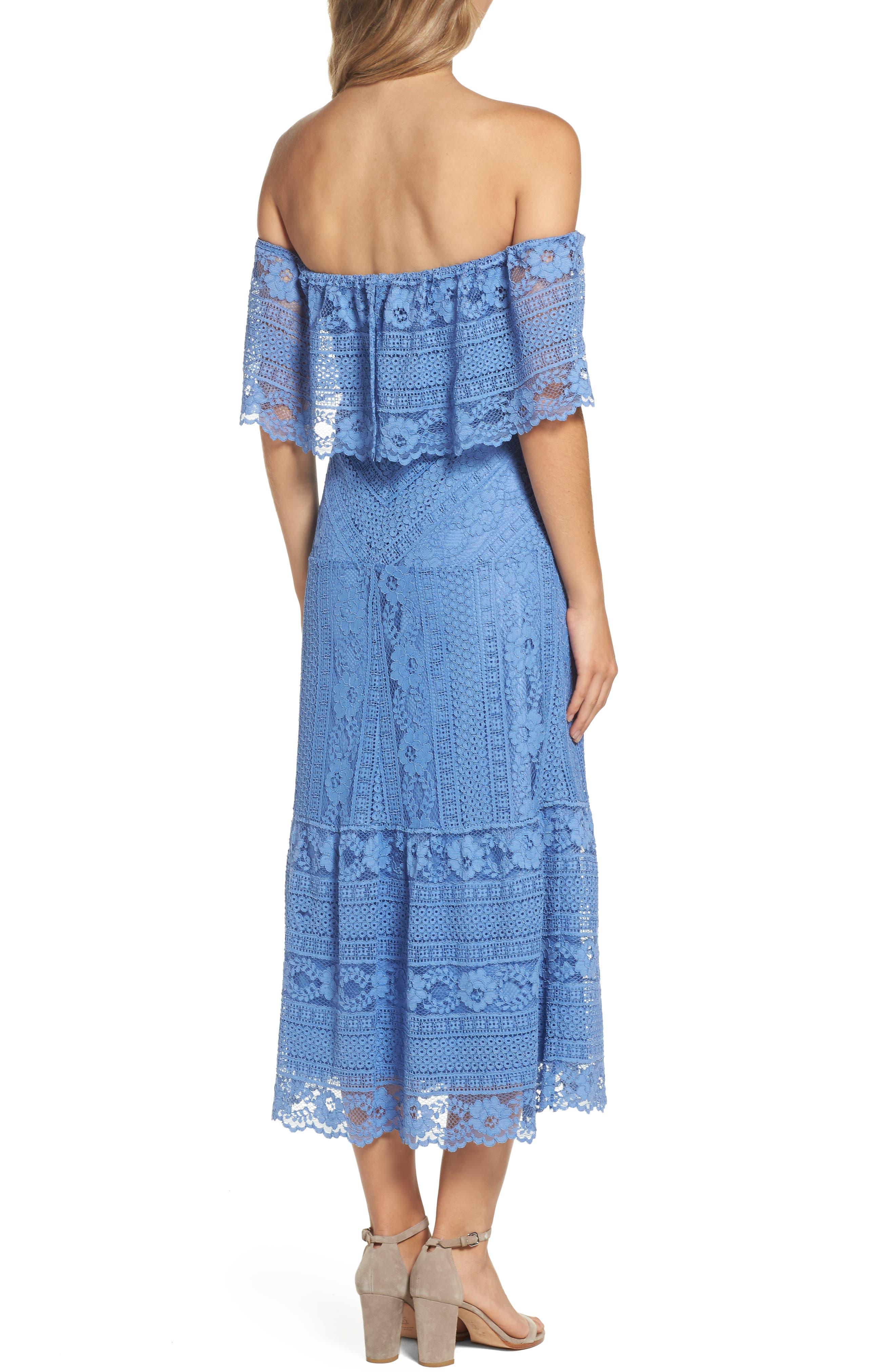 Alternate Image 2  - BB Dakota Katie Lace Midi Dress
