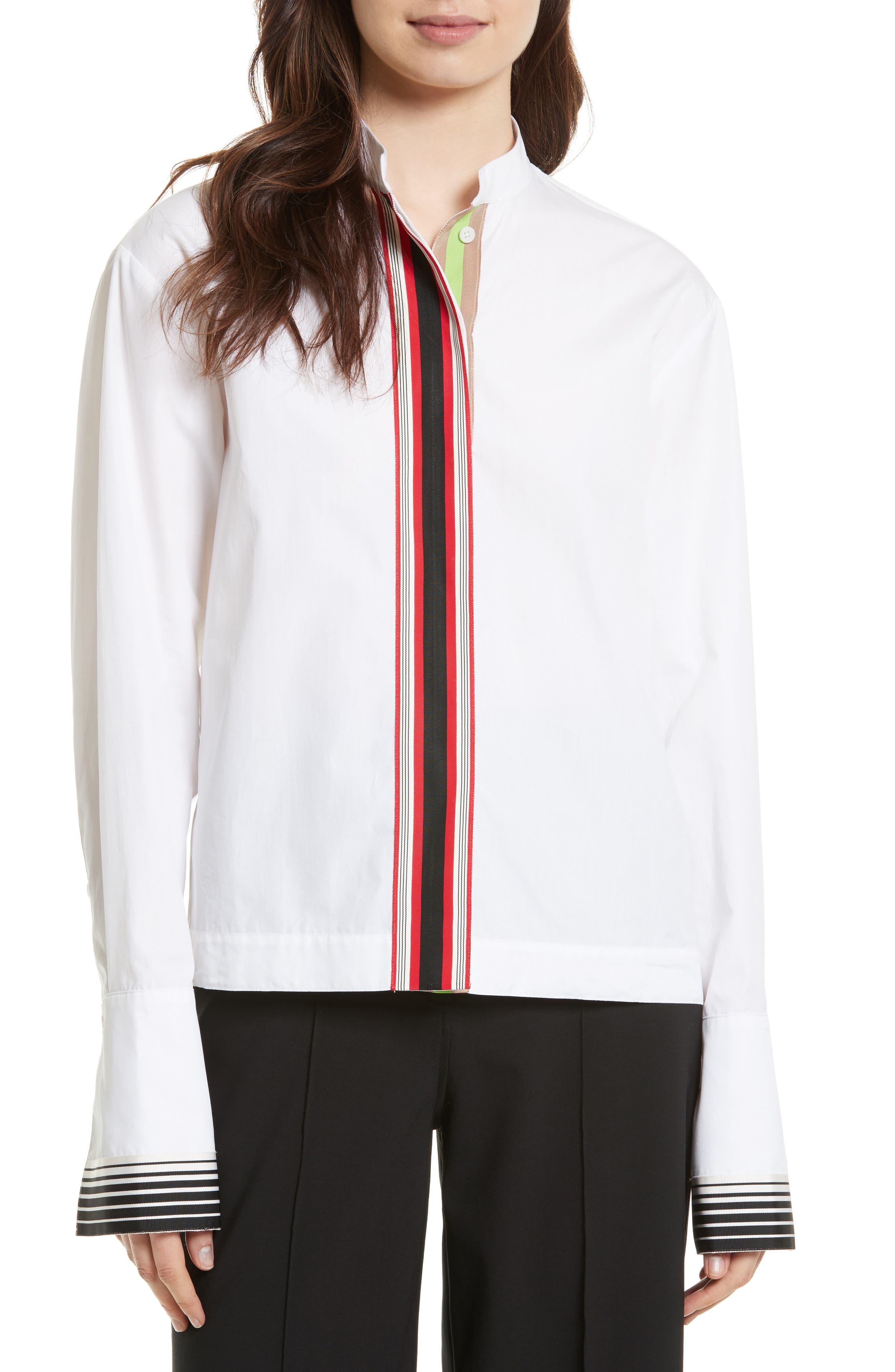 Diane von Furstenberg Grosgrain Trim Shirt