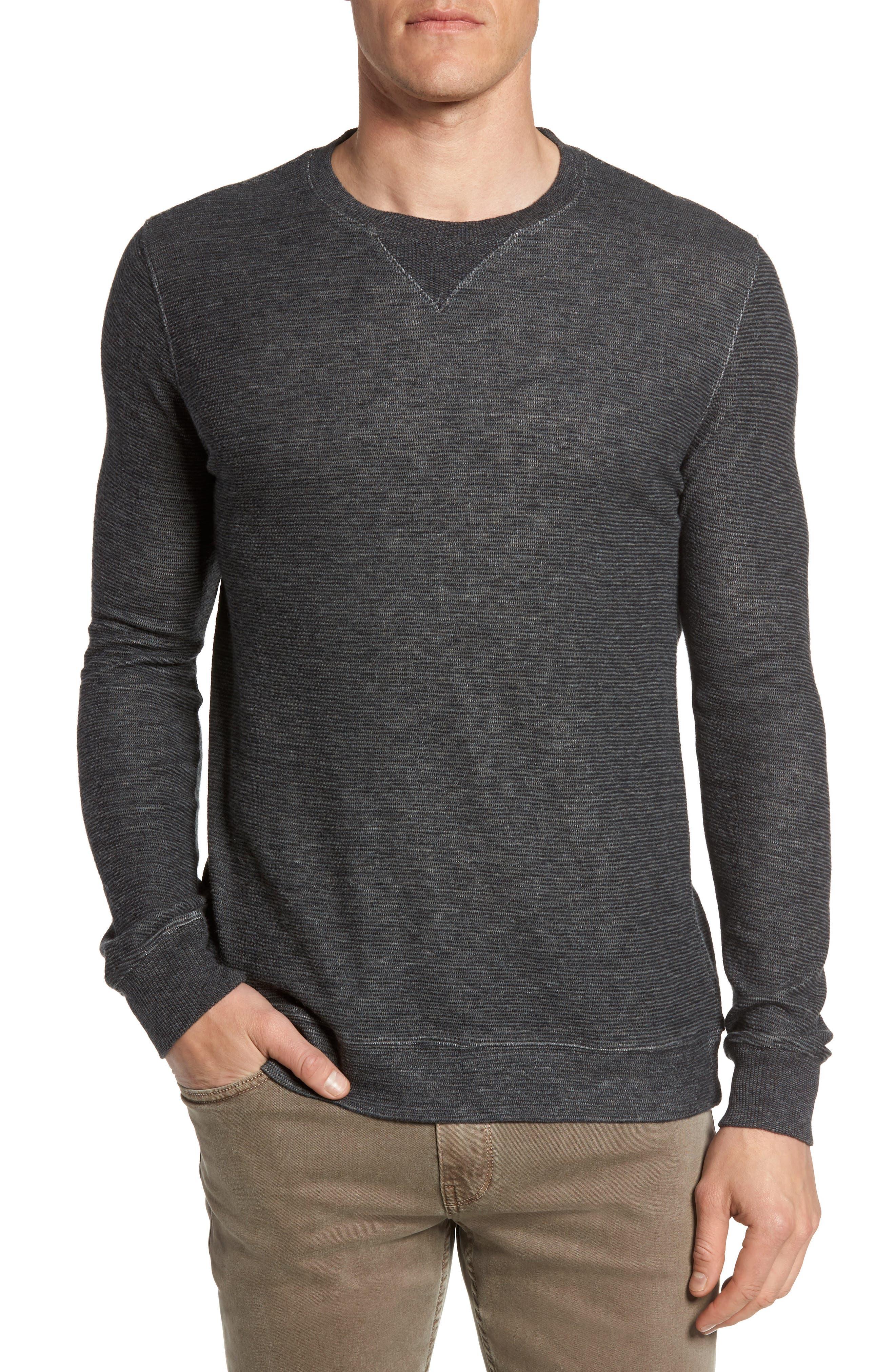 Ottoman Stripe T-Shirt,                             Main thumbnail 1, color,                             Charcoal