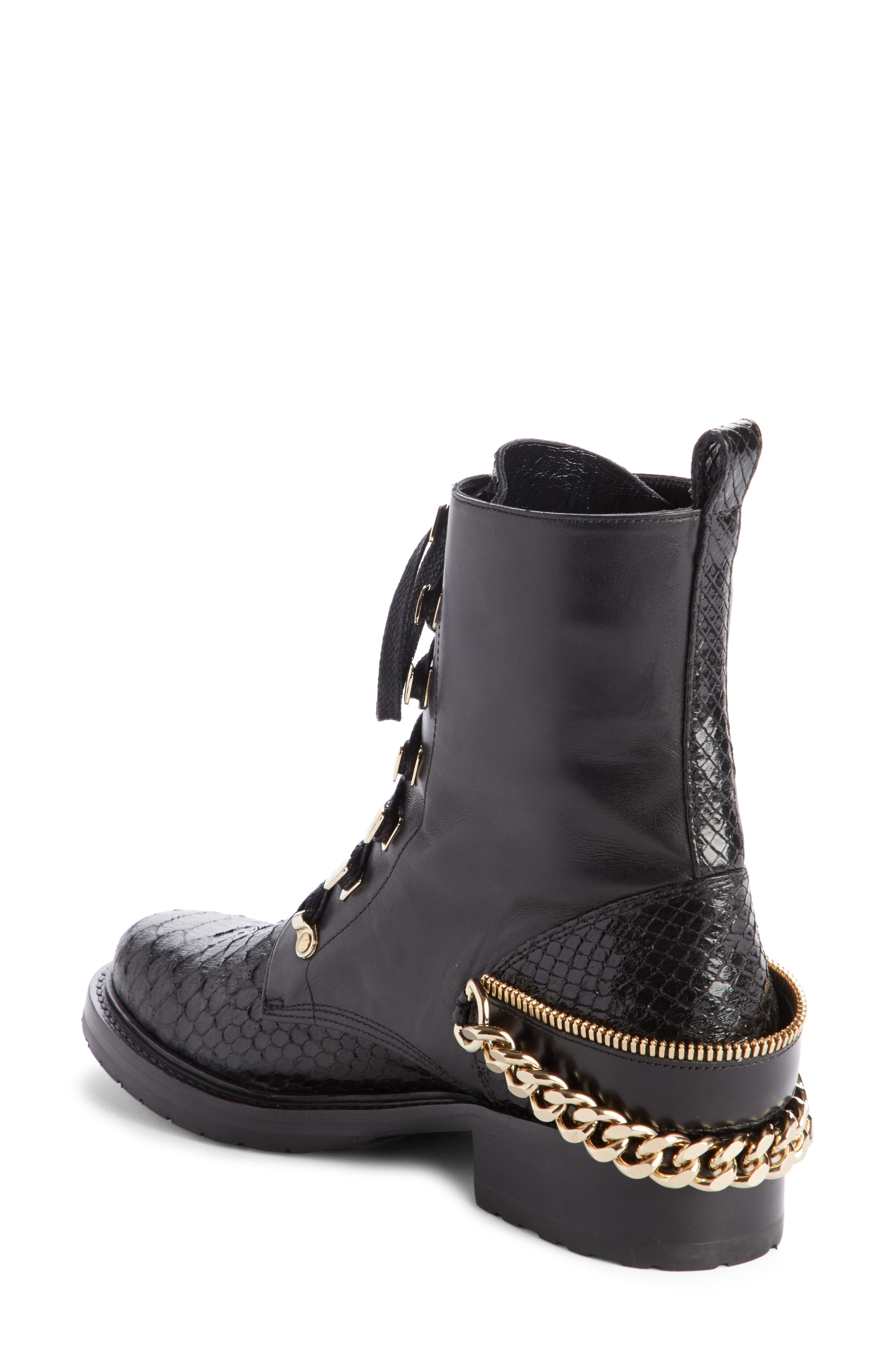 Alternate Image 2  - Lanvin Chain Biker Boot (Women)