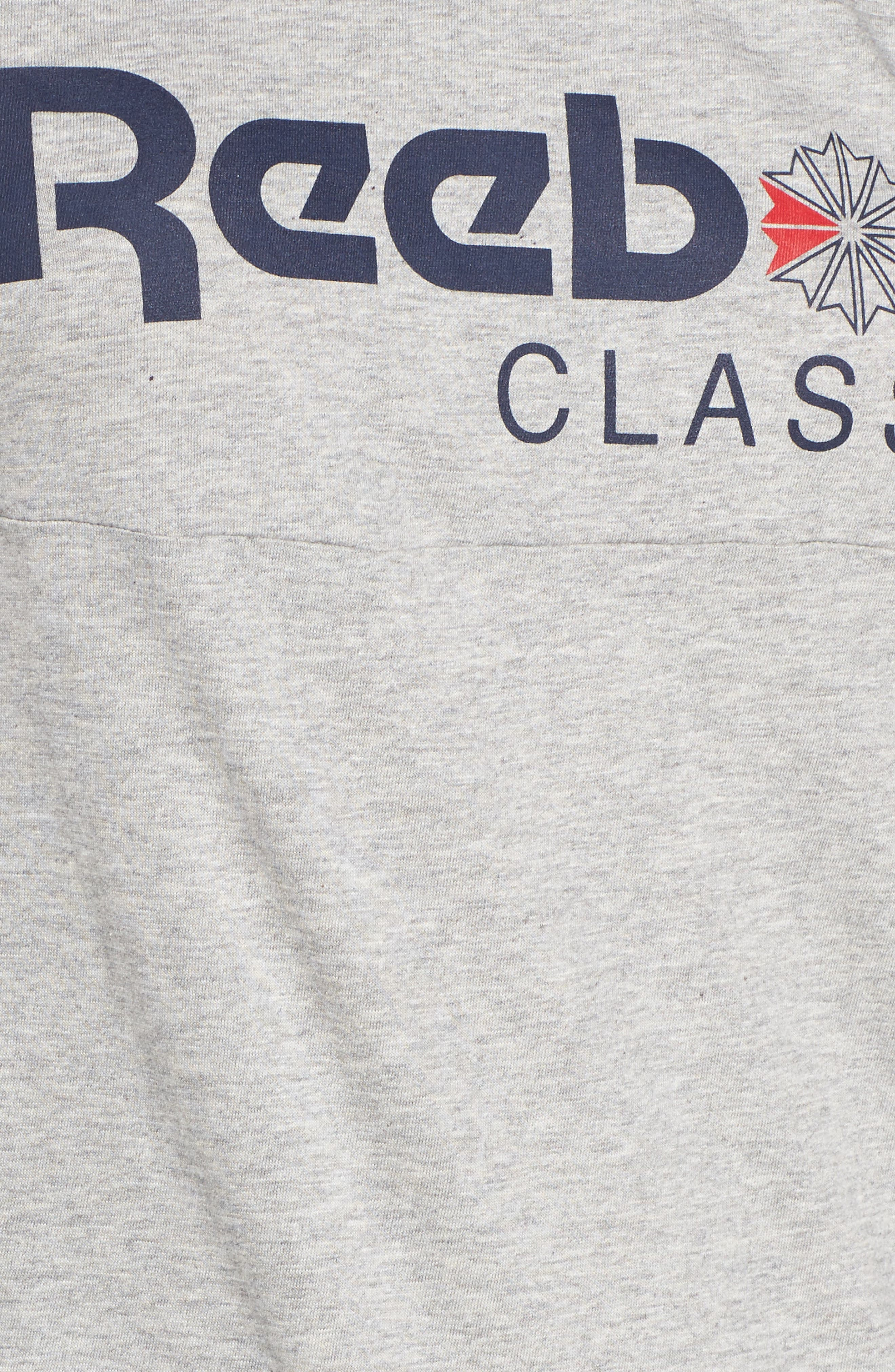 Classic Logo Tee,                             Alternate thumbnail 6, color,                             Medium Grey Heather