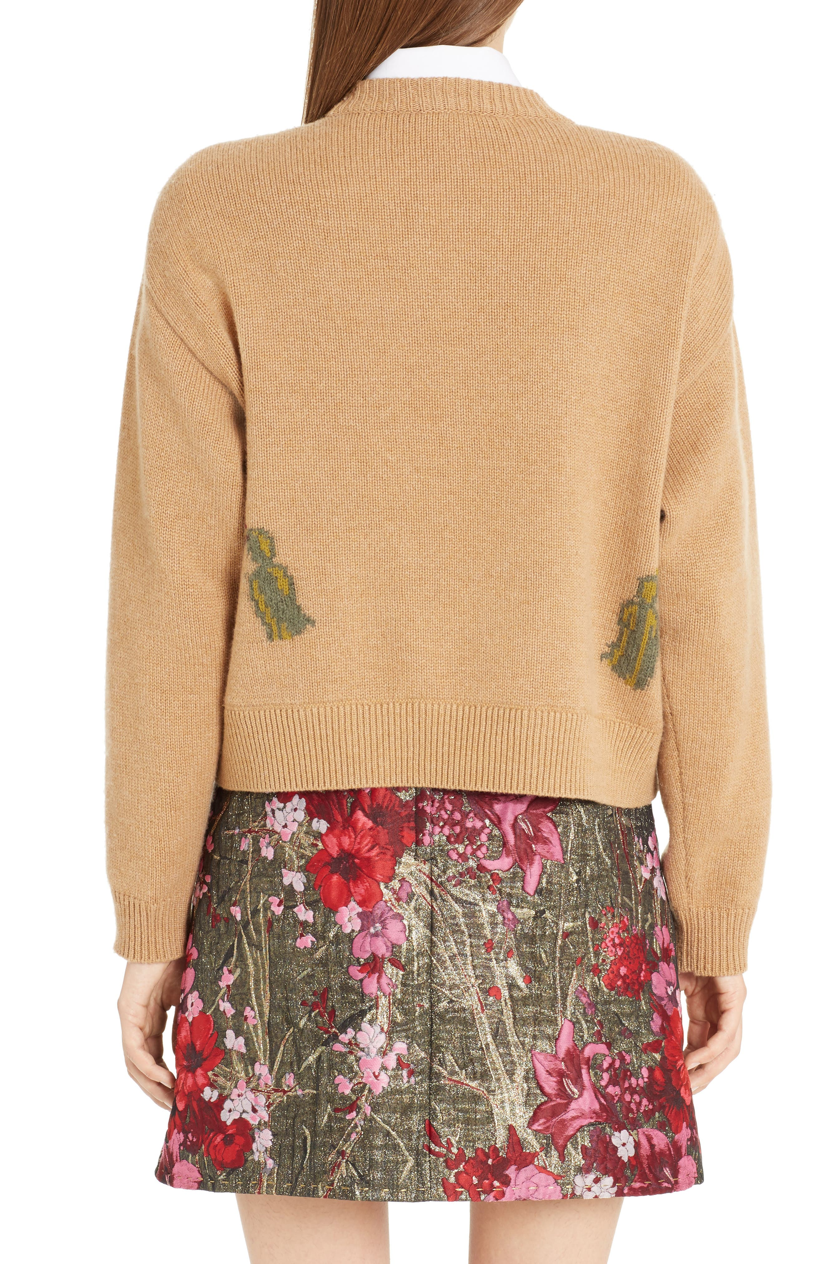 Alternate Image 2  - Dolce&Gabbana Cat Intarsia Cashmere, Wool & Mohair Blend Sweater
