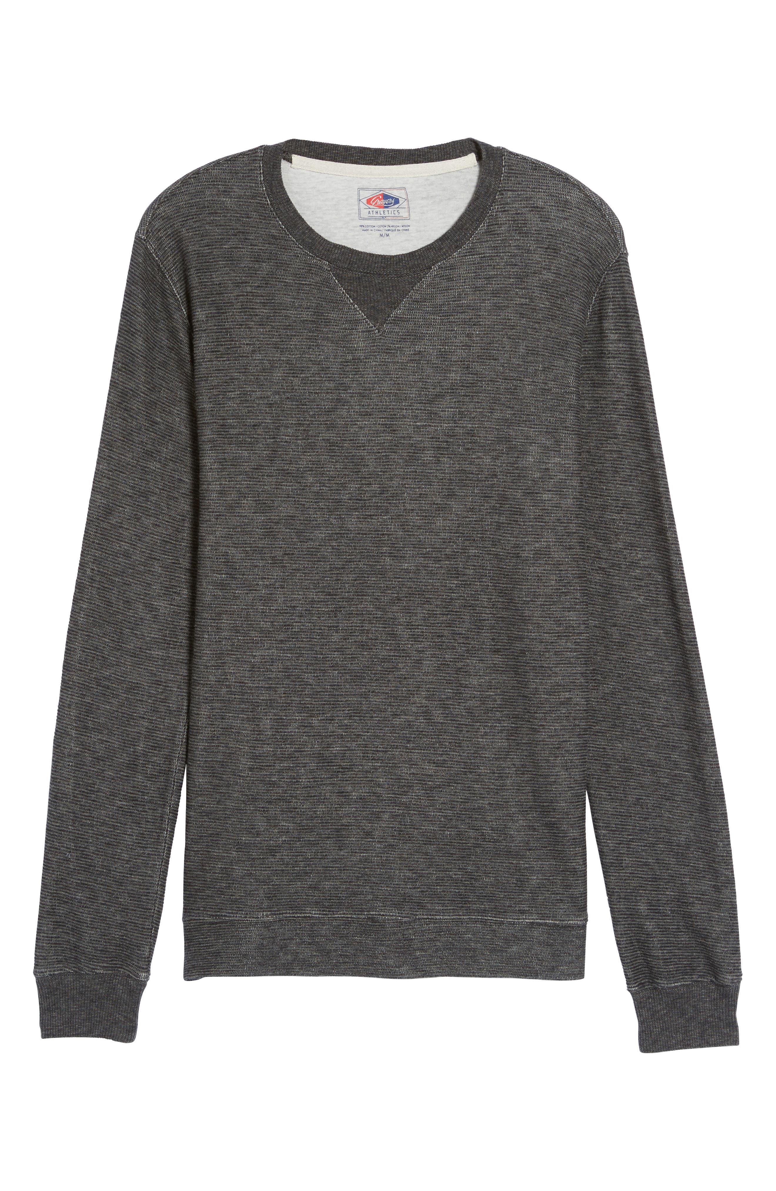 Ottoman Stripe T-Shirt,                             Alternate thumbnail 6, color,                             Charcoal