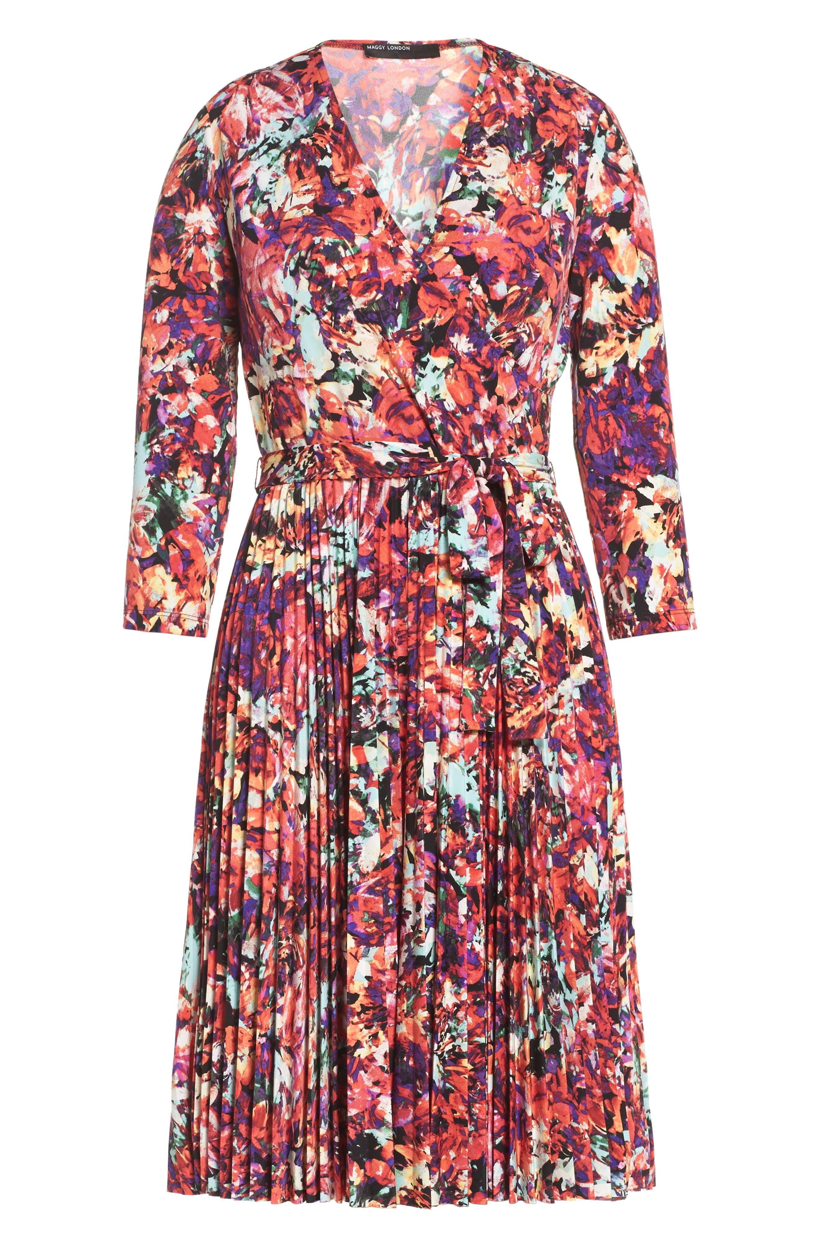 Alternate Image 7  - Maggy London Print Fit & Flare Dress (Regular & Petite)