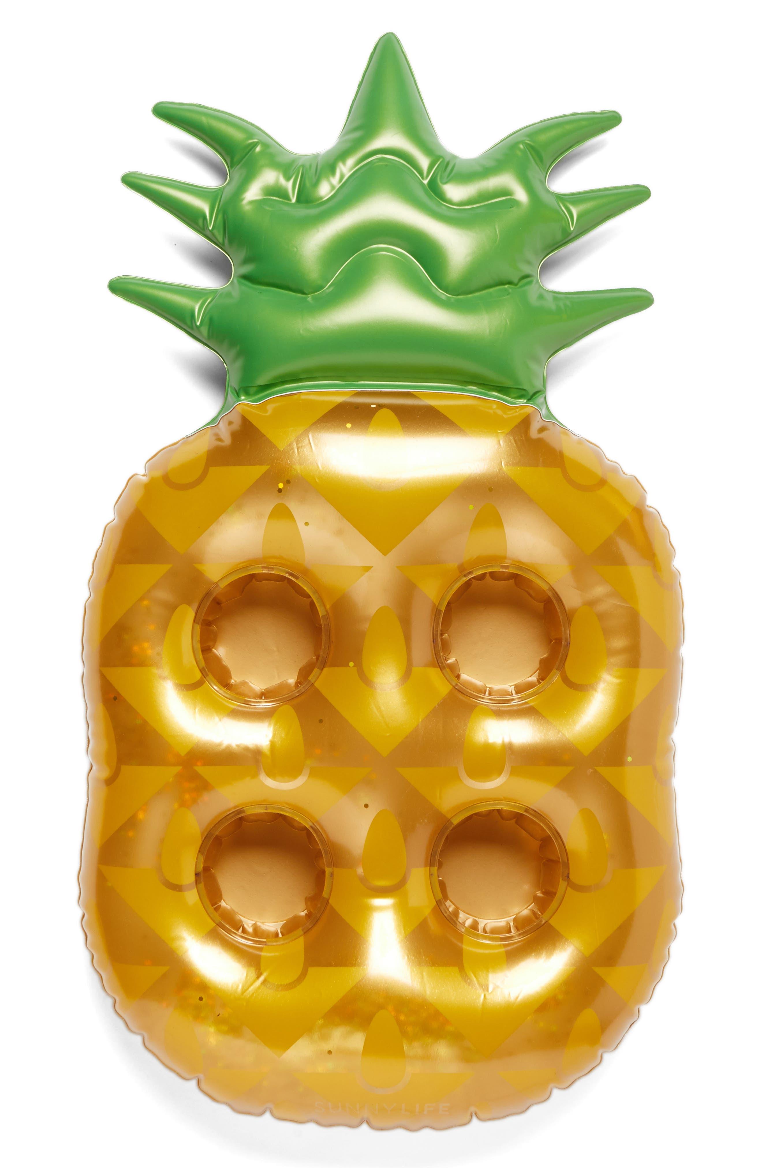 Alternate Image 1 Selected - Sunnylife Inflatable Pineapple Drink Holder Pool Float