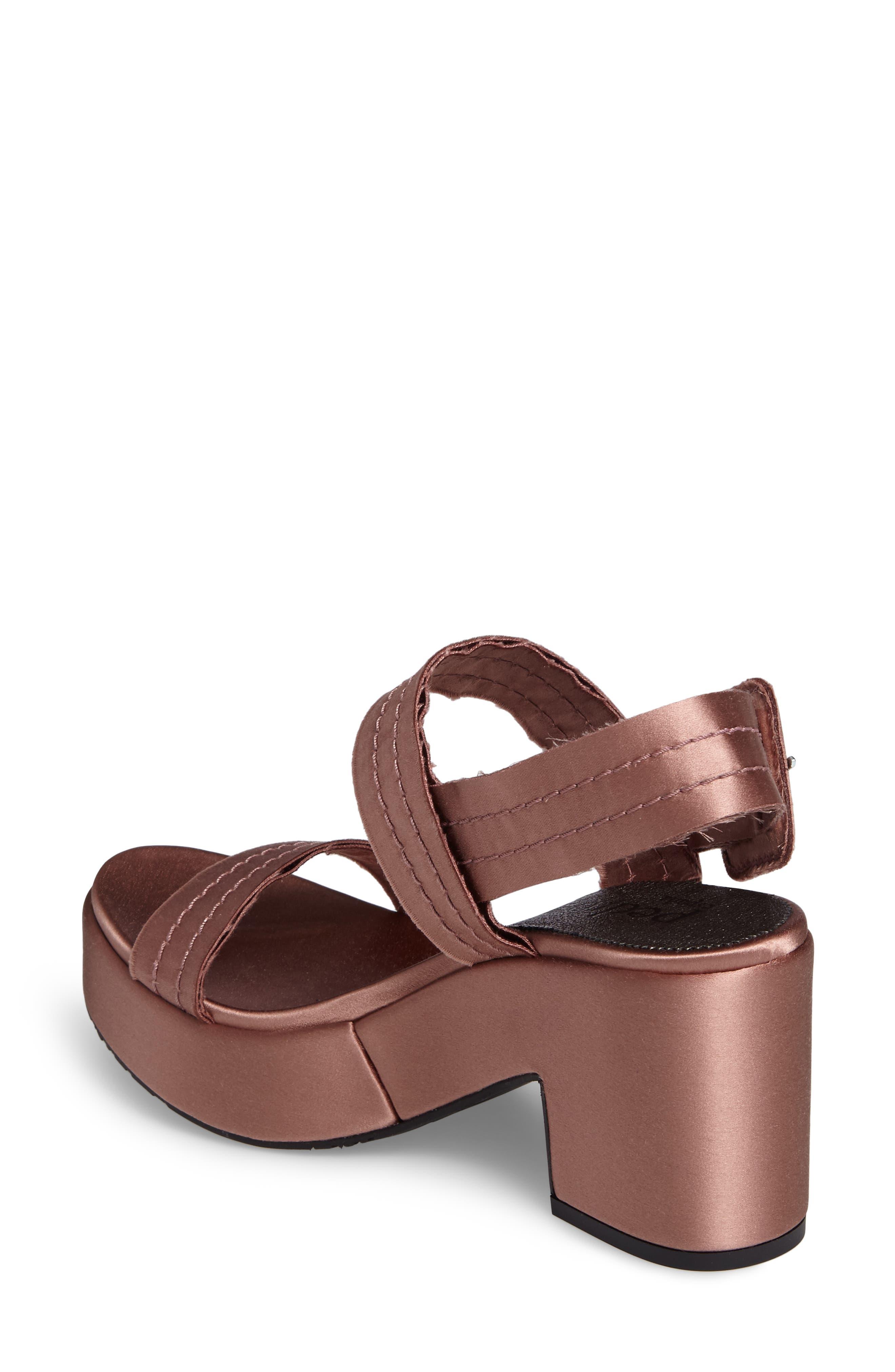 Decima Platform Sandal,                             Alternate thumbnail 2, color,                             Powder Satin