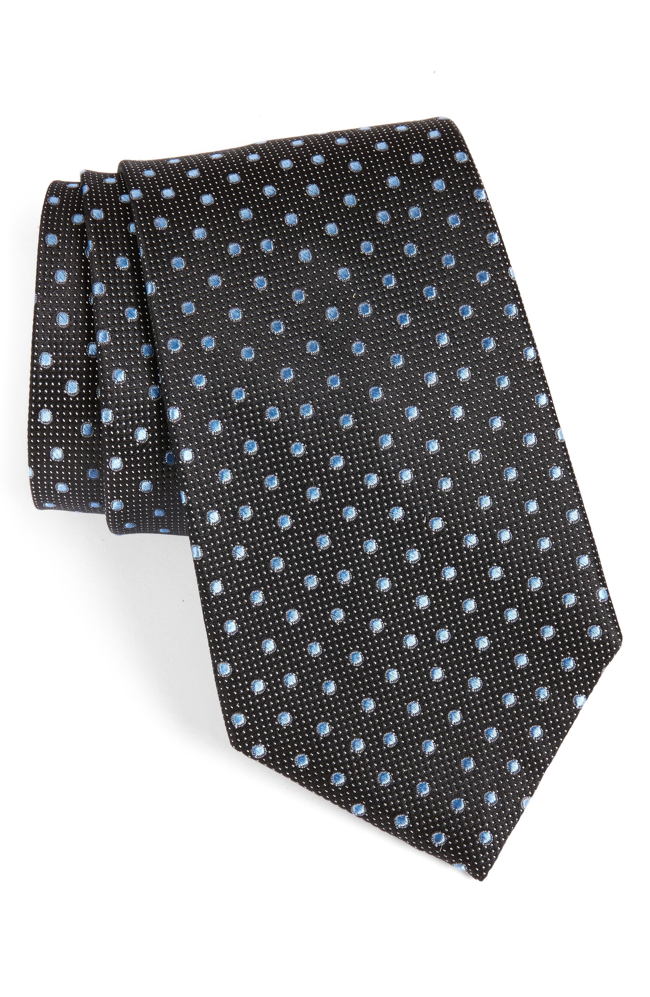 NORDSTROM MENS SHOP Dot Silk Tie
