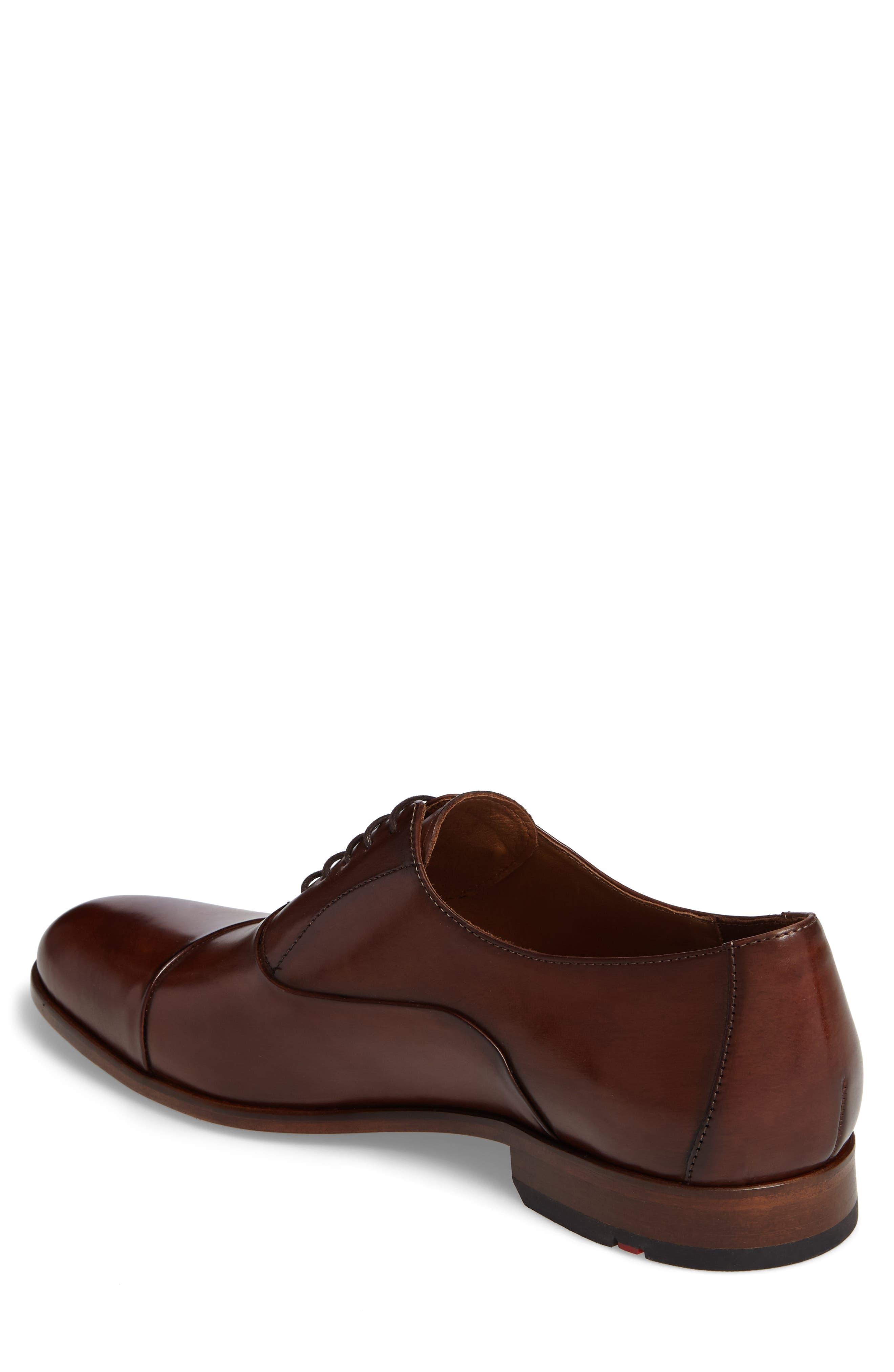 Malik Cap-Toe Oxford,                             Alternate thumbnail 2, color,                             Brown Leather
