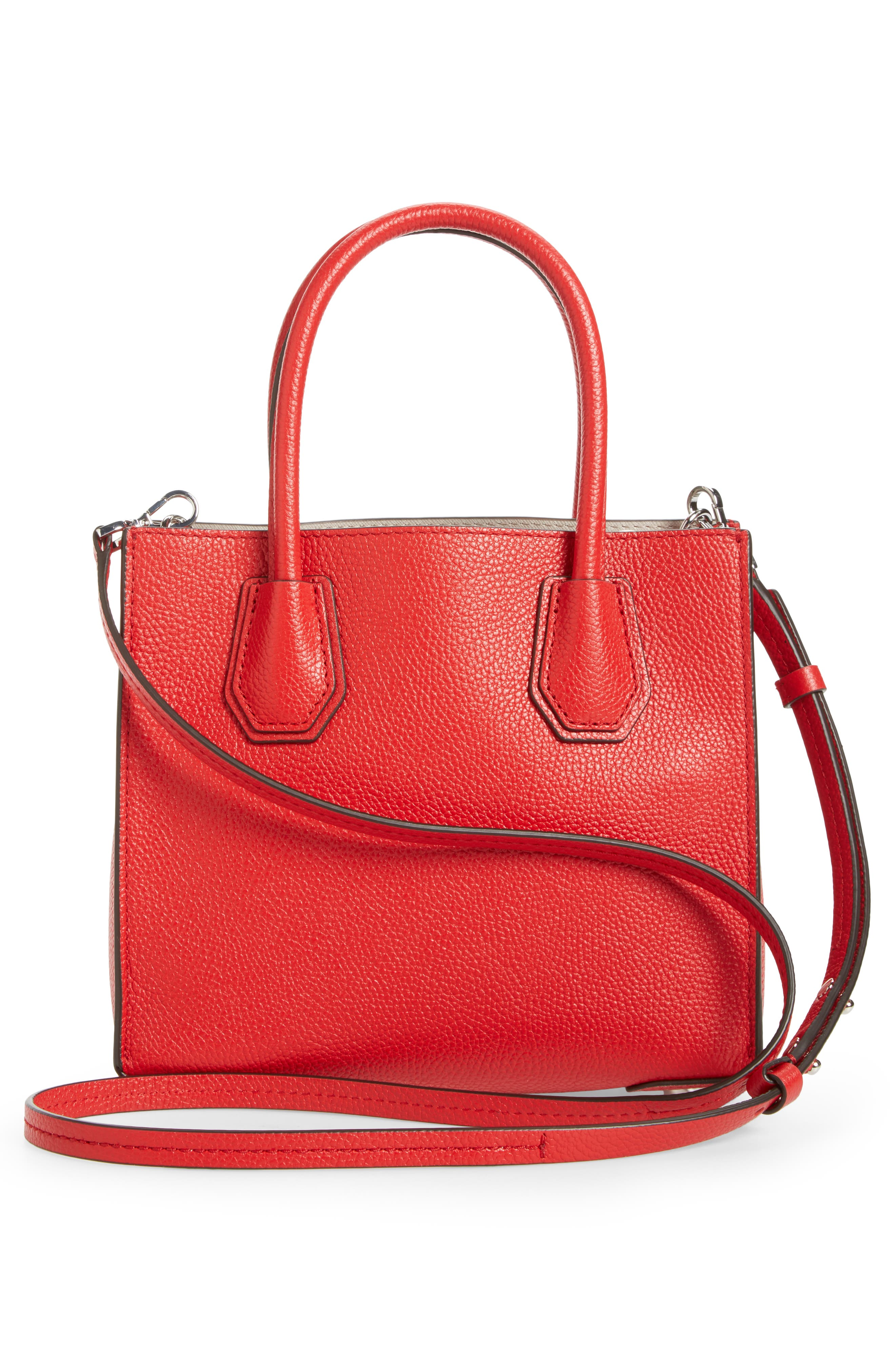 Alternate Image 3  - MICHAEL Michael Kors Mercer Leather Crossbody Bag