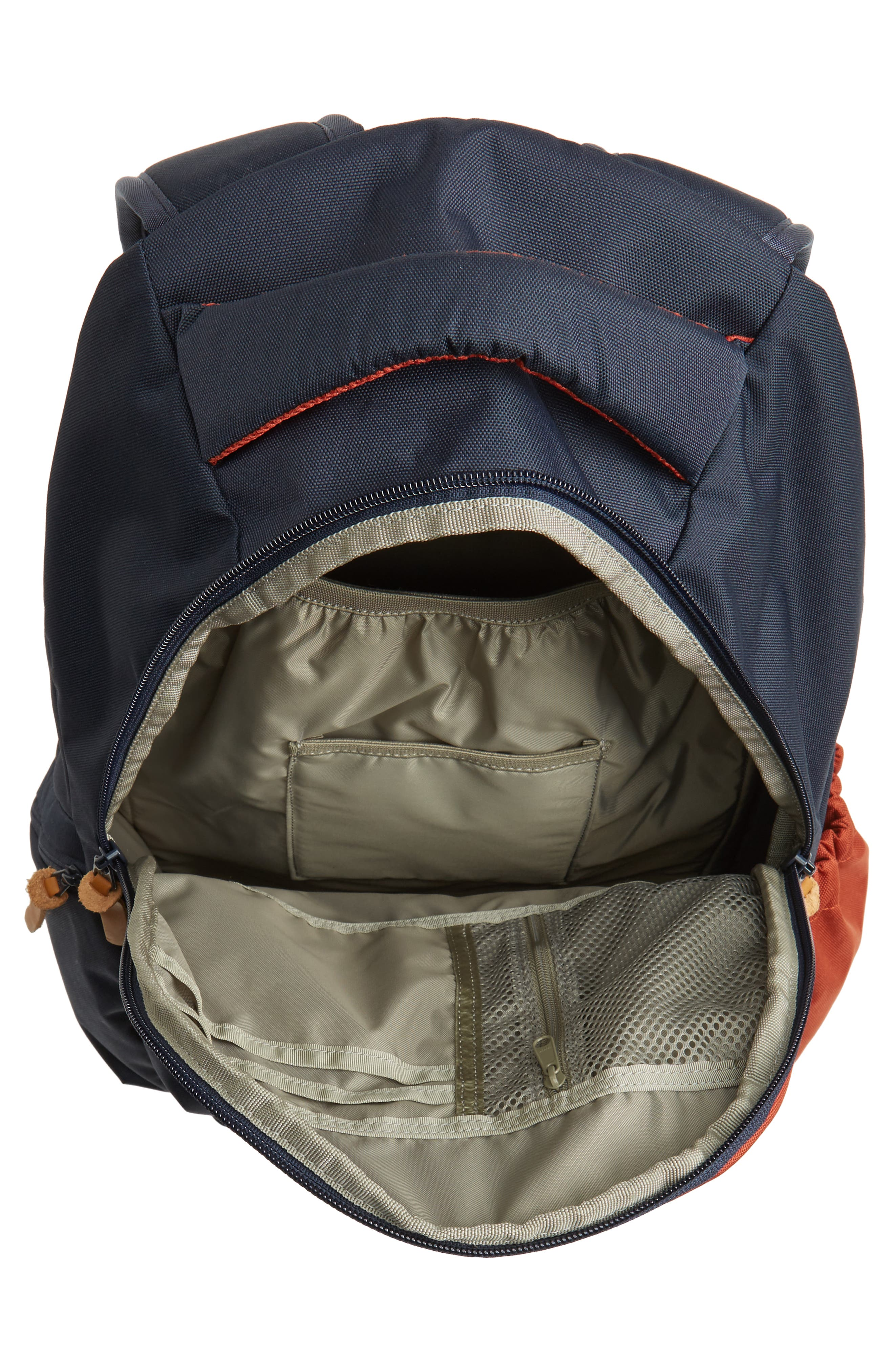 Rift Backpack,                             Alternate thumbnail 3, color,                             Navy/ Rust