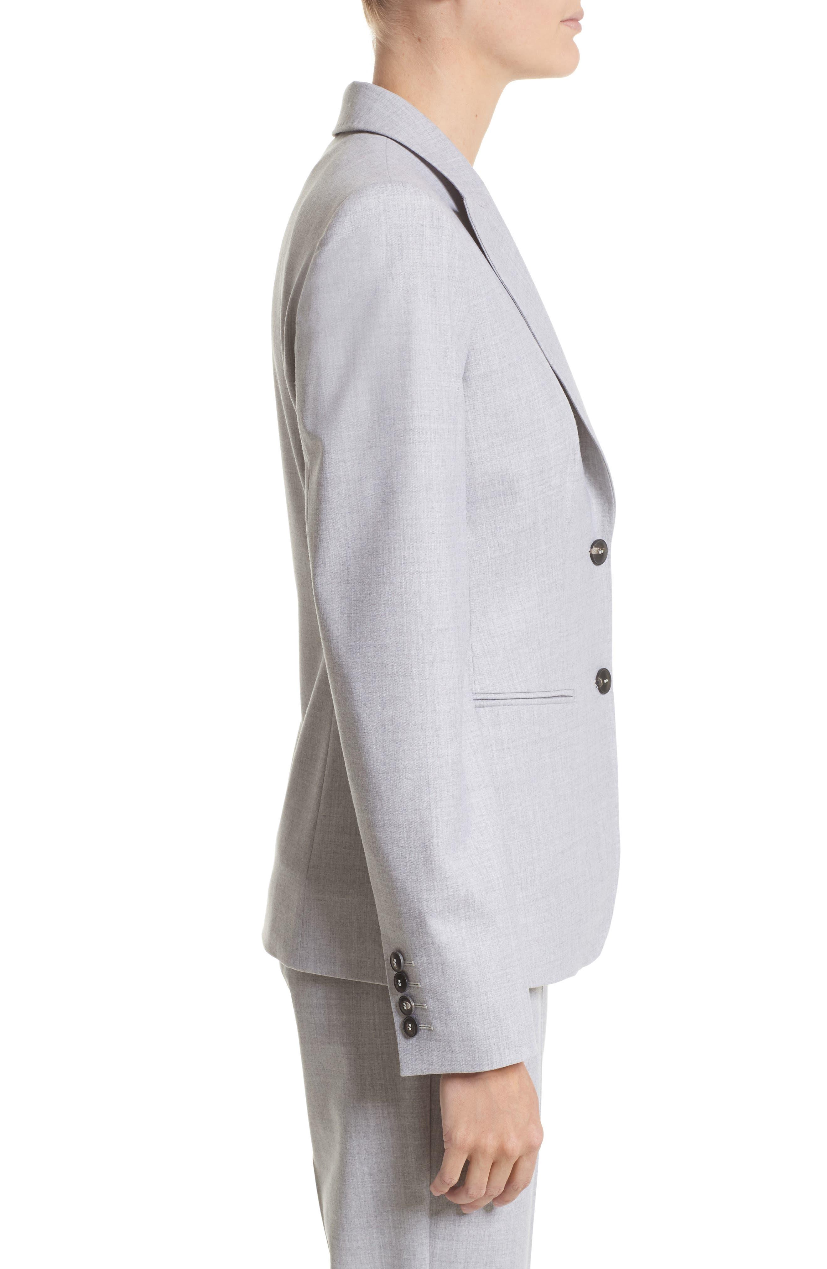 Stretch Wool Jacket,                             Alternate thumbnail 6, color,                             Light Grey