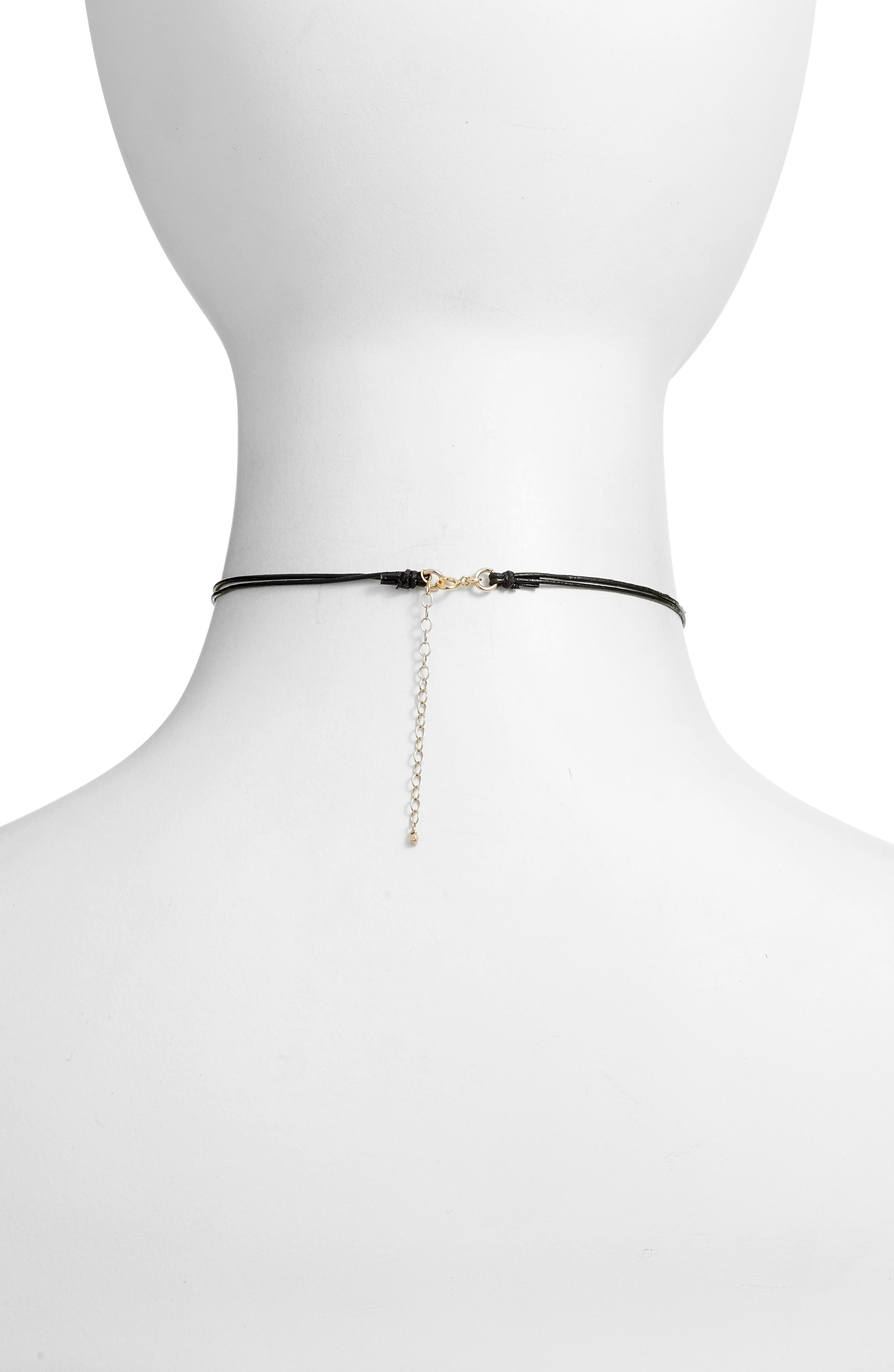 Alternate Image 3  - Dogeared Leather Choker with Pearl